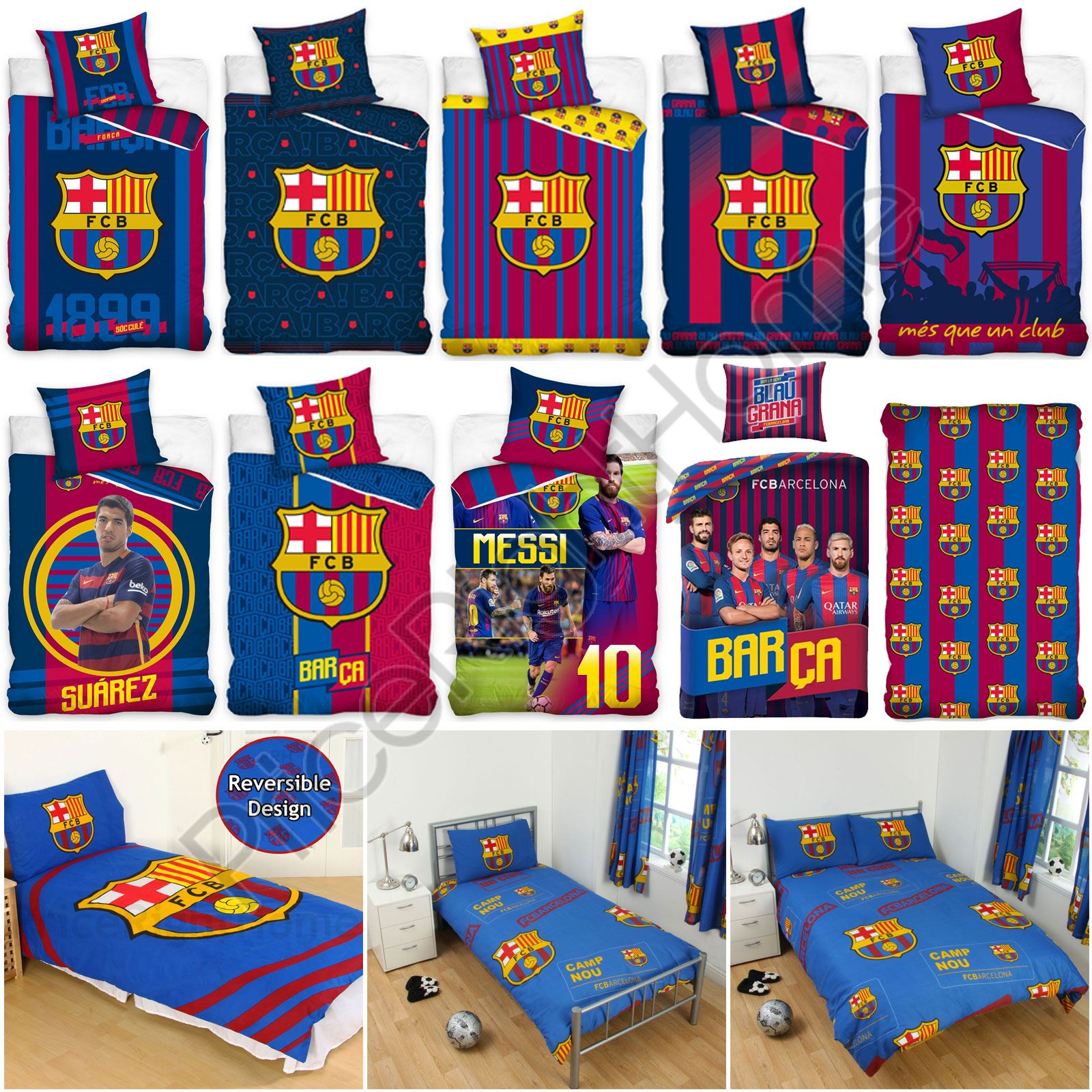 9240a4291123e2 Details about OFFICIAL FC BARCELONA DUVET COVER SETS BEDDING BEDROOM  FOOTBALL NEW