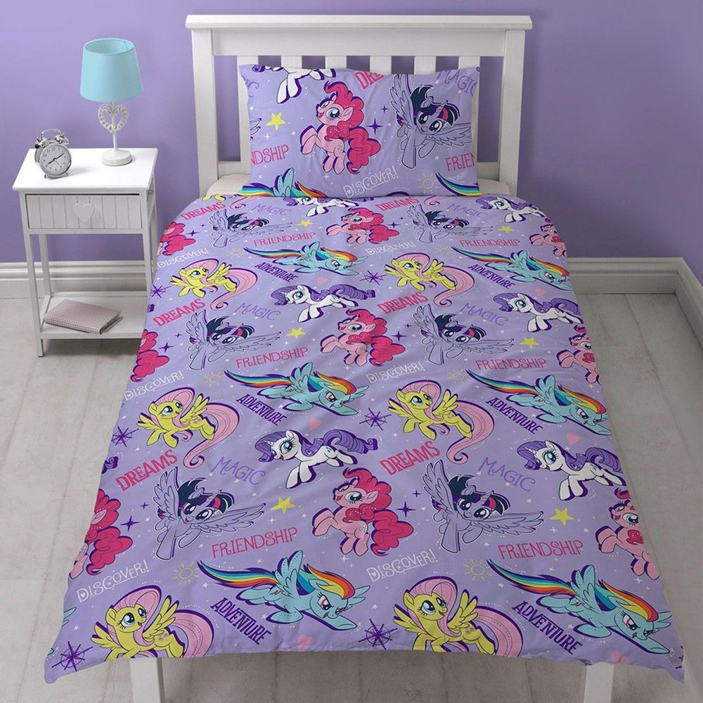 MY LITTLE PONY SINGLE JUNIOR DUVET COVER SETS GIRLS