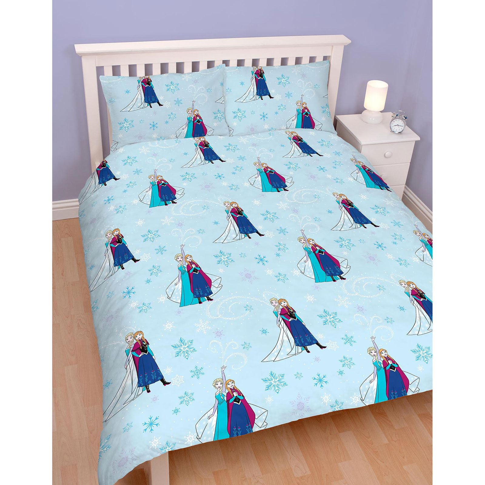 Sleigh Bedroom Sets King Bedroom Jpg Simple Bedroom Colour Design Bedroom Accessories Uk: OFFICIAL DISNEY FROZEN LIGHTS DOUBLE DUVET COVER SET