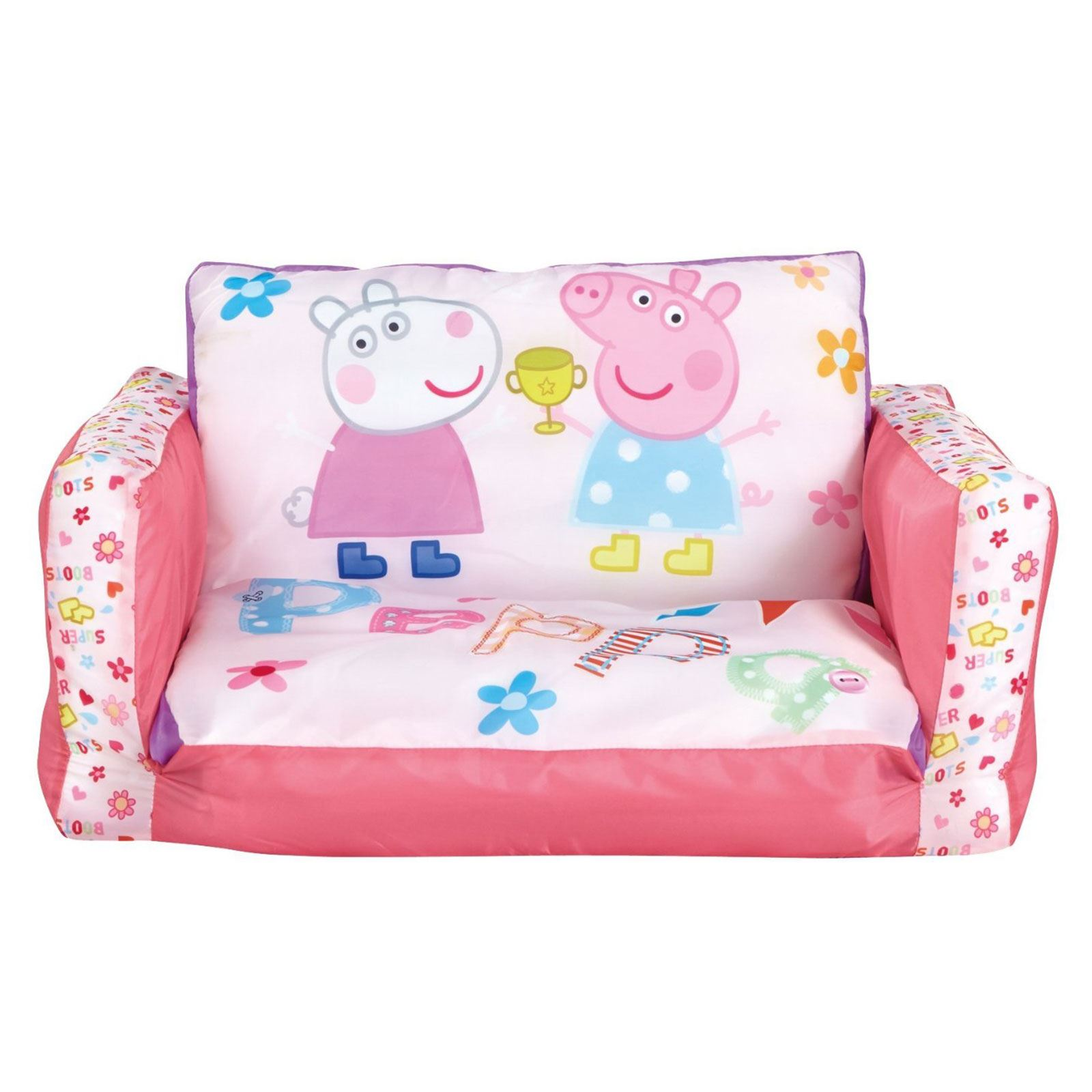 Picture of: Peppa Pig Flip Out Mini Sofa Inflatable Kids Girls New 100 Official 757538994973 Ebay