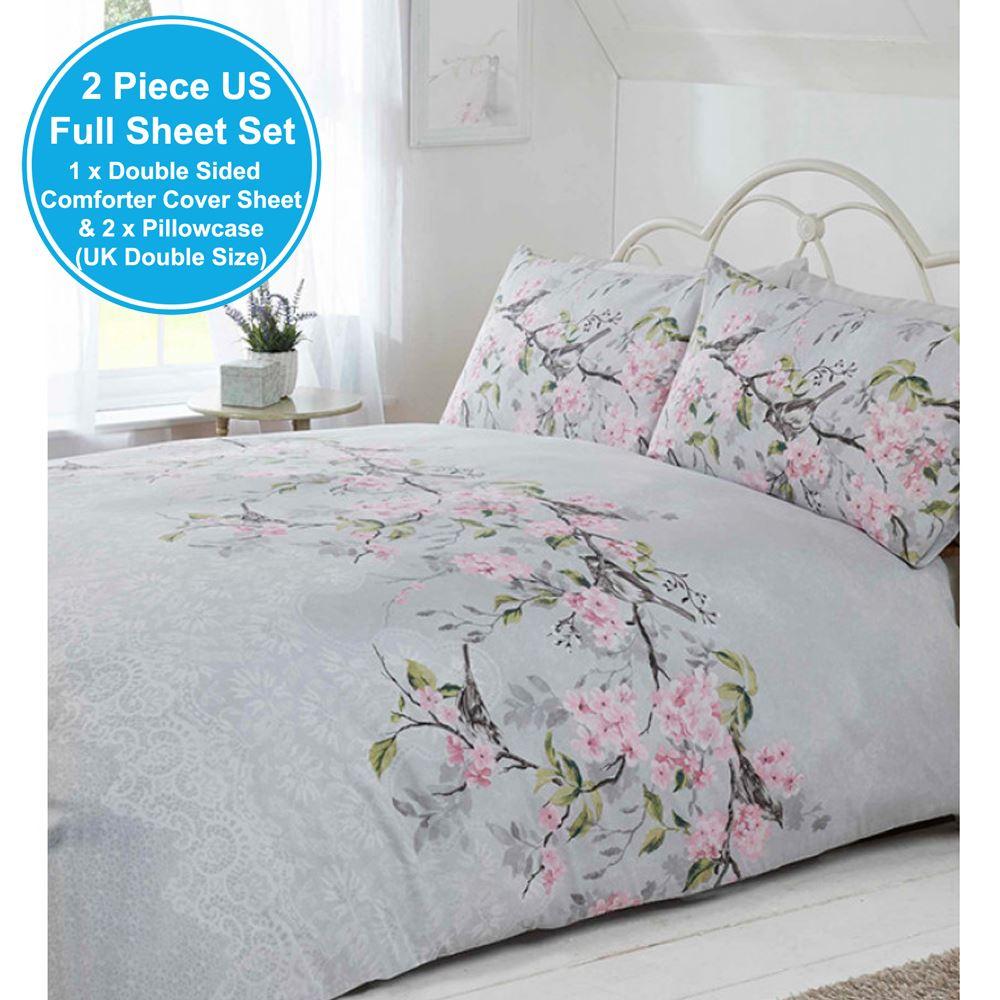 Eloise Floral Doble Duvet cover set ropa de cama por Rapport-Gris