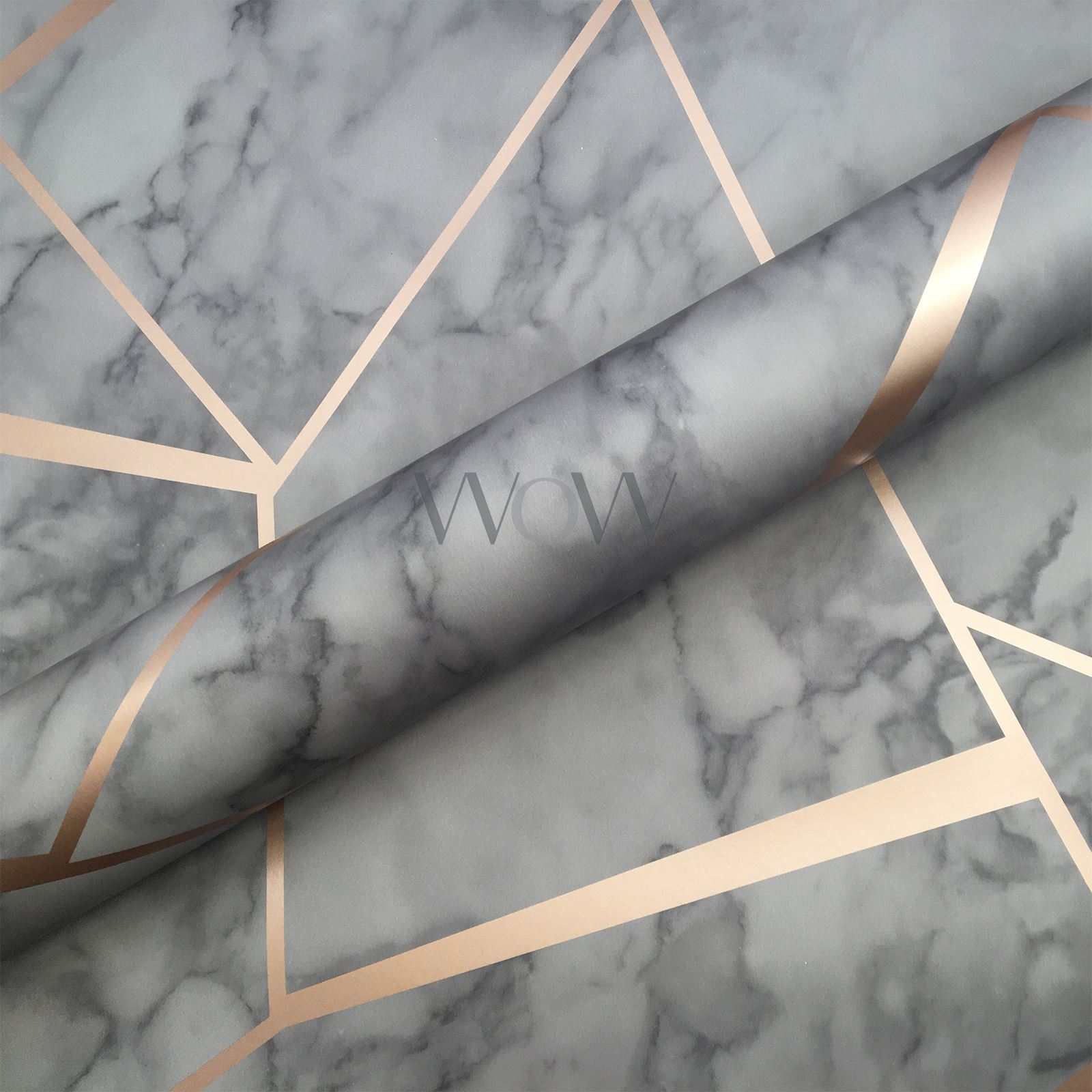 FINE-DECOR-METALLIC-GEOMETRIC-PLAIN-MARBLE-WALLPAPER-ROSE-GOLD-COPPER-SILVER thumbnail 4