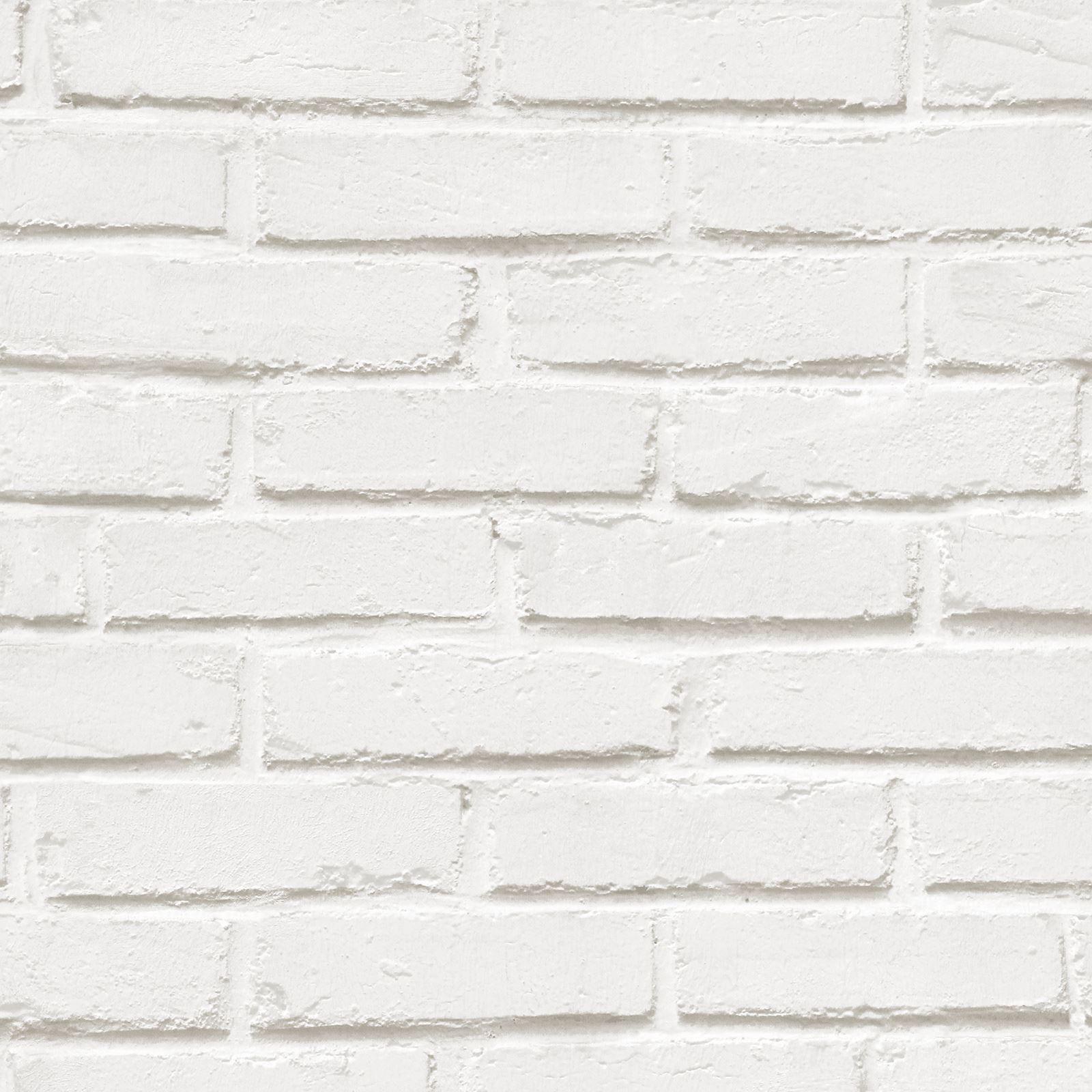 Mur Effet Brique Blanche détails sur brique ardoise papier peint effet - rustique rouge blanc lavé  gris noir & plus