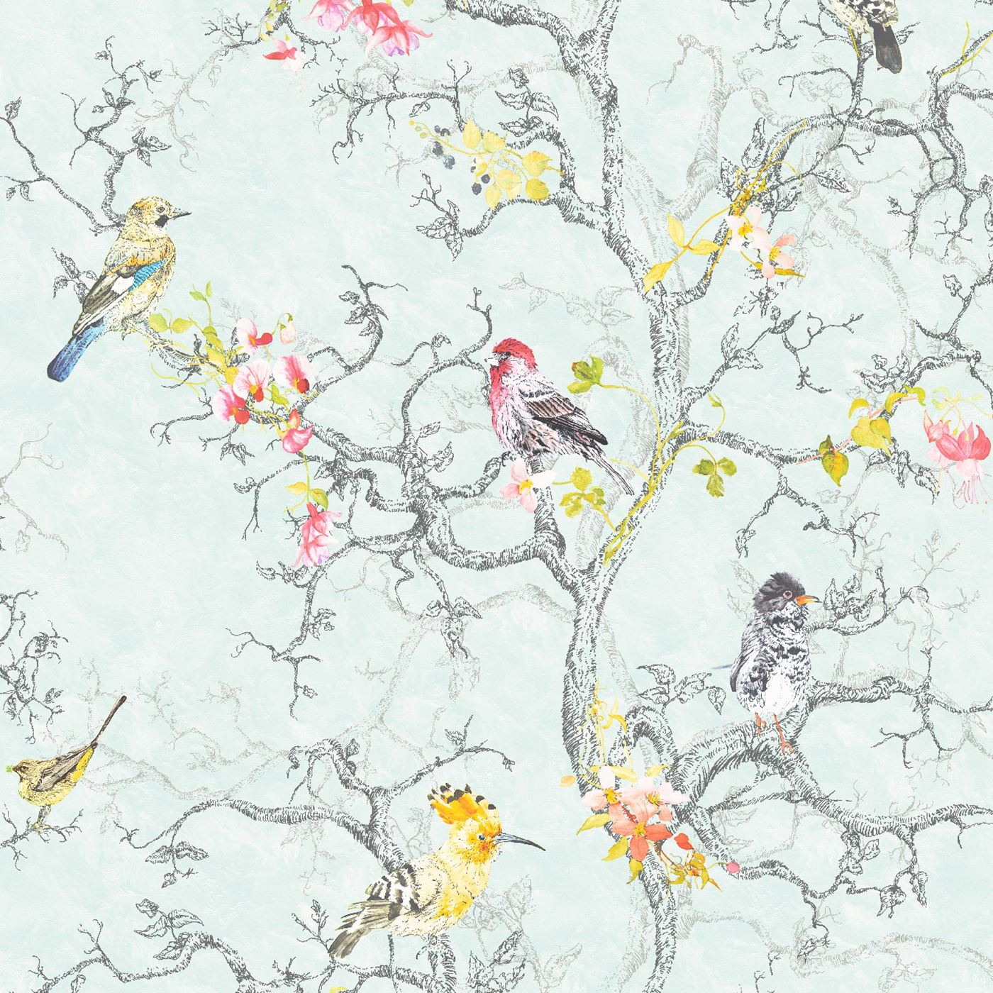 Beautiful birds themed wallpapers in various designs feature wall room decor ebay - Pheasant wallpaper for walls ...