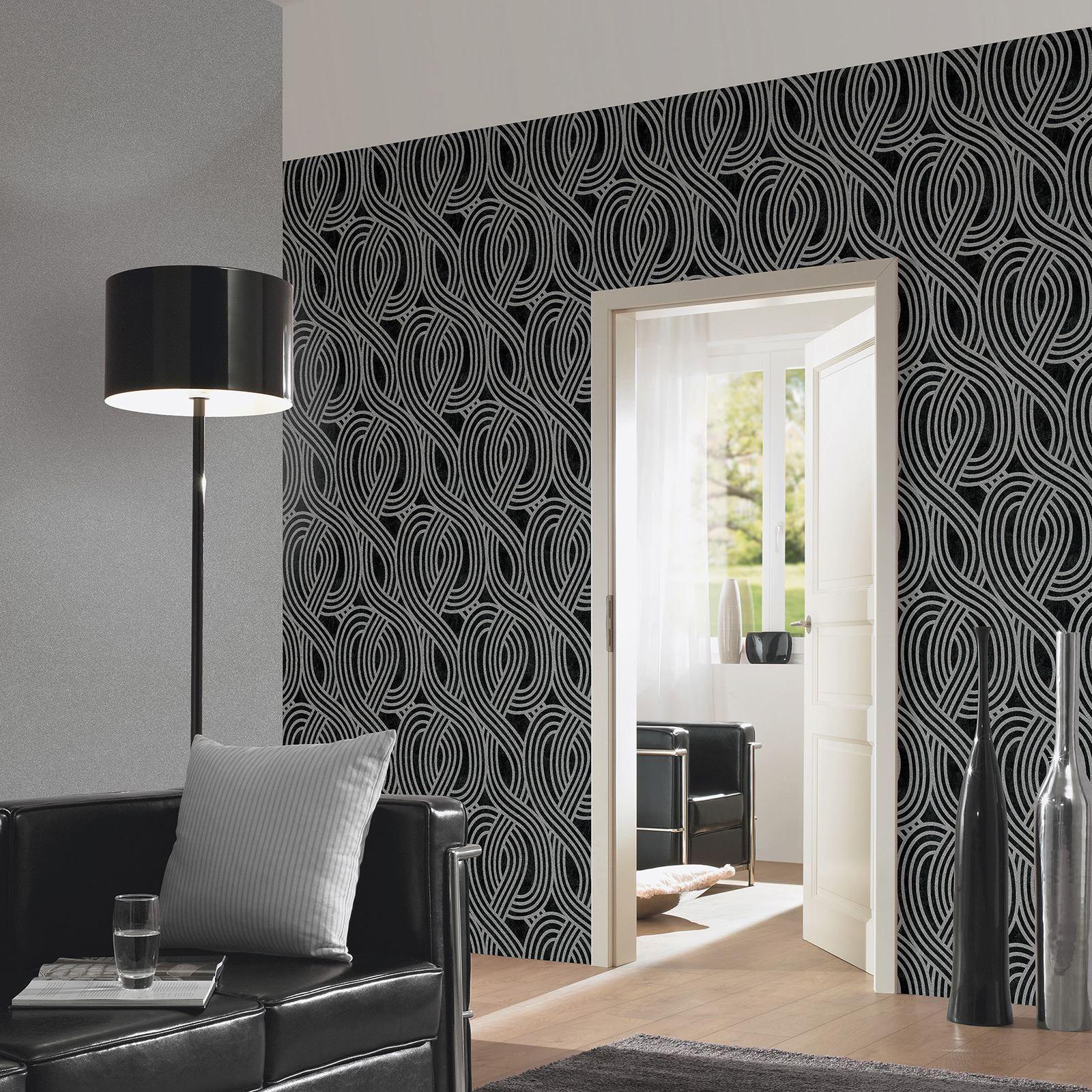 P Amp S Carat Geometric Glitter Stripes Wallpaper Feature Wall