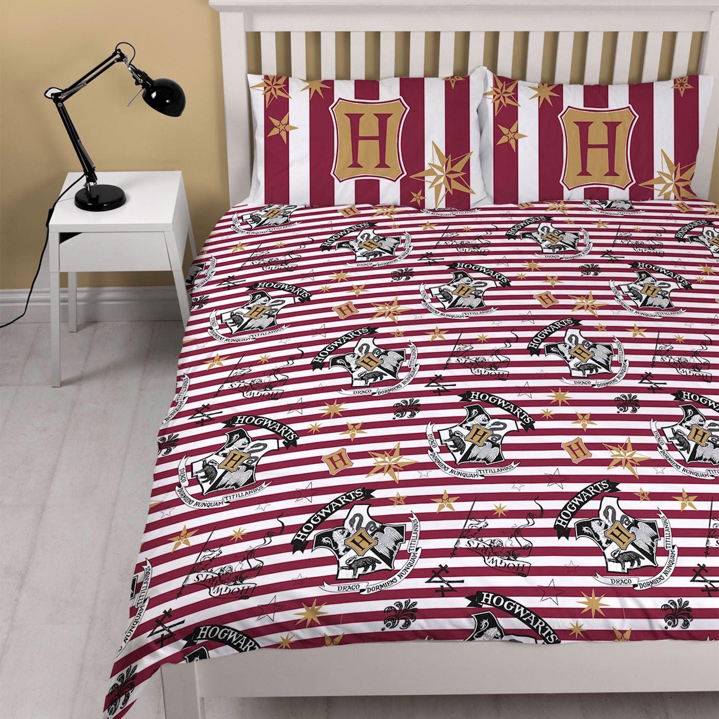harry potter doppelbett bezug set bettw sche kinder 2 designs in 1 ebay. Black Bedroom Furniture Sets. Home Design Ideas