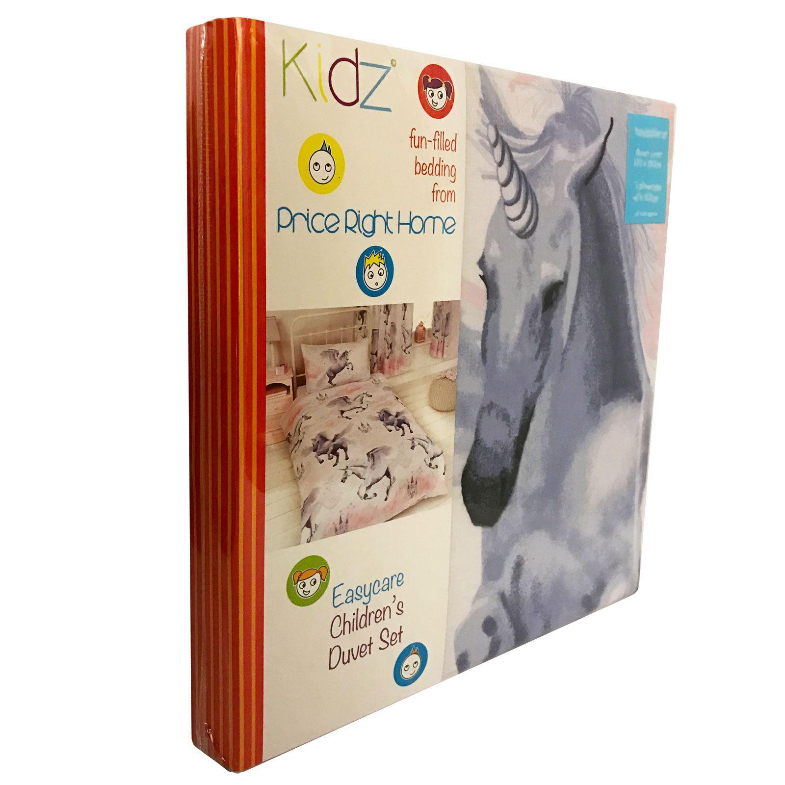 CHARACTER-AND-THEMED-SINGLE-DUVET-COVER-KIDS-BEDDING-SETS-AVENGERS-KITTY-UNICORN thumbnail 121