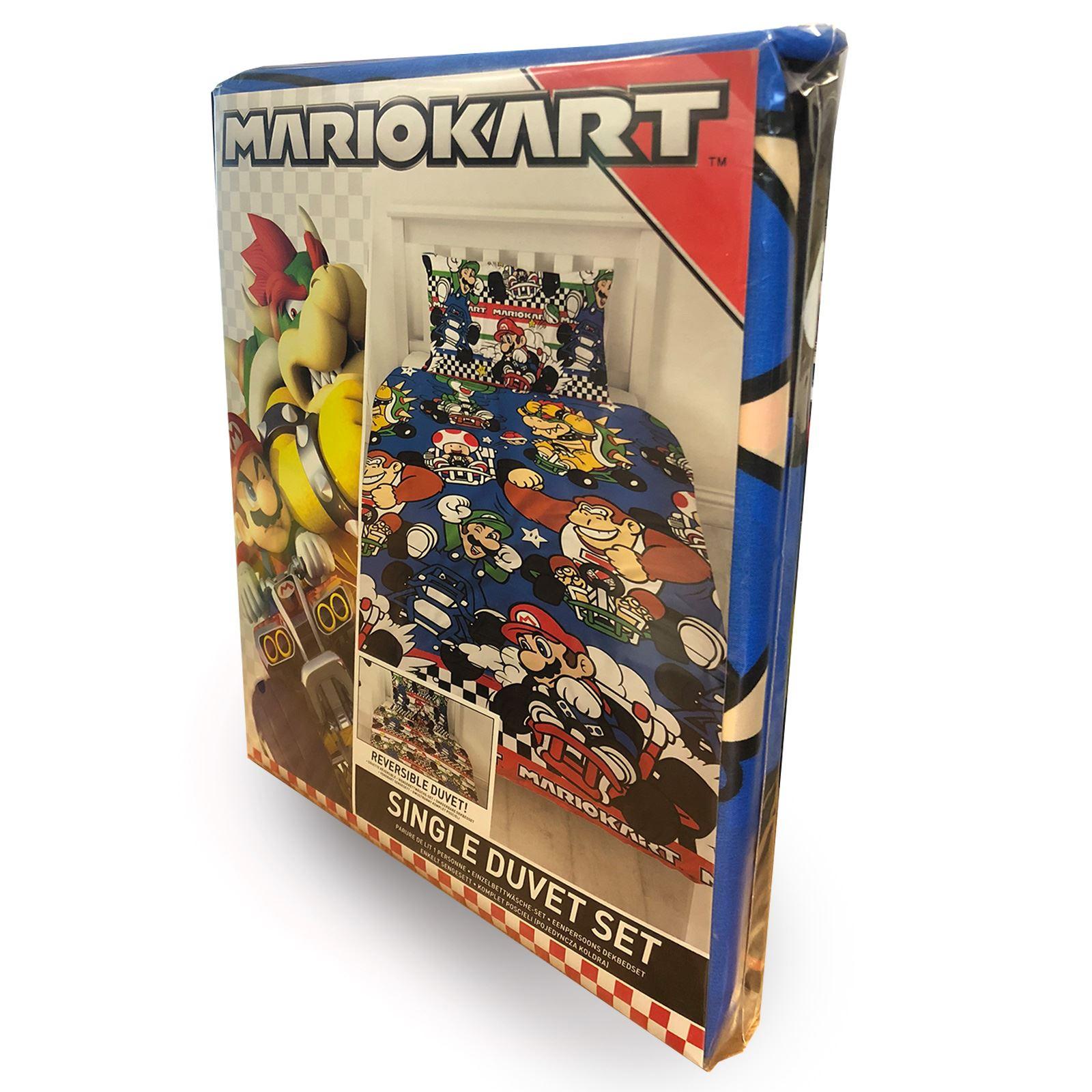 Official Nintendo Mario Kart Racer Single Duvet Cover Set