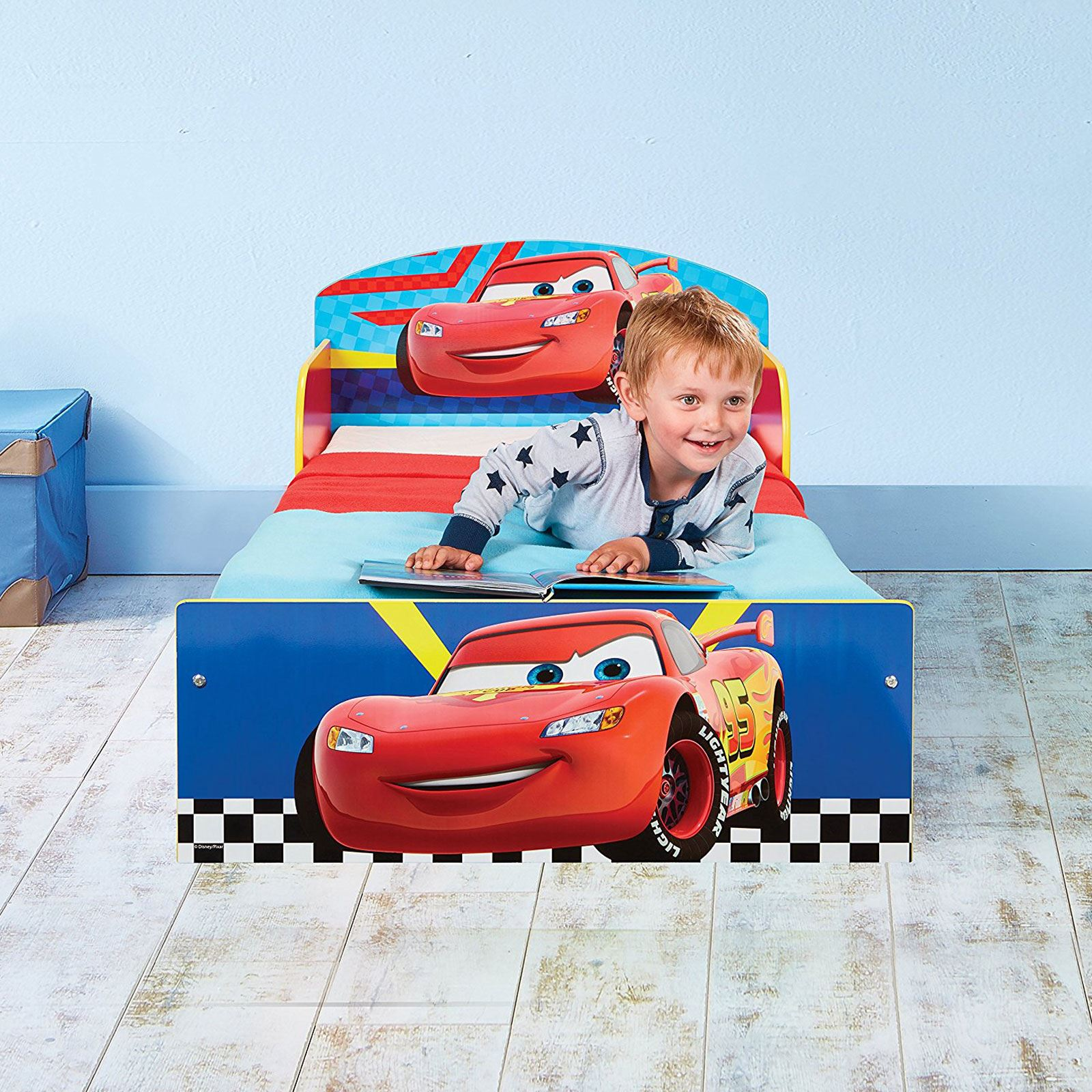 DISNEY CARS LIGHTNING MCQUEEN TODDLER BED WITH FOAM ...