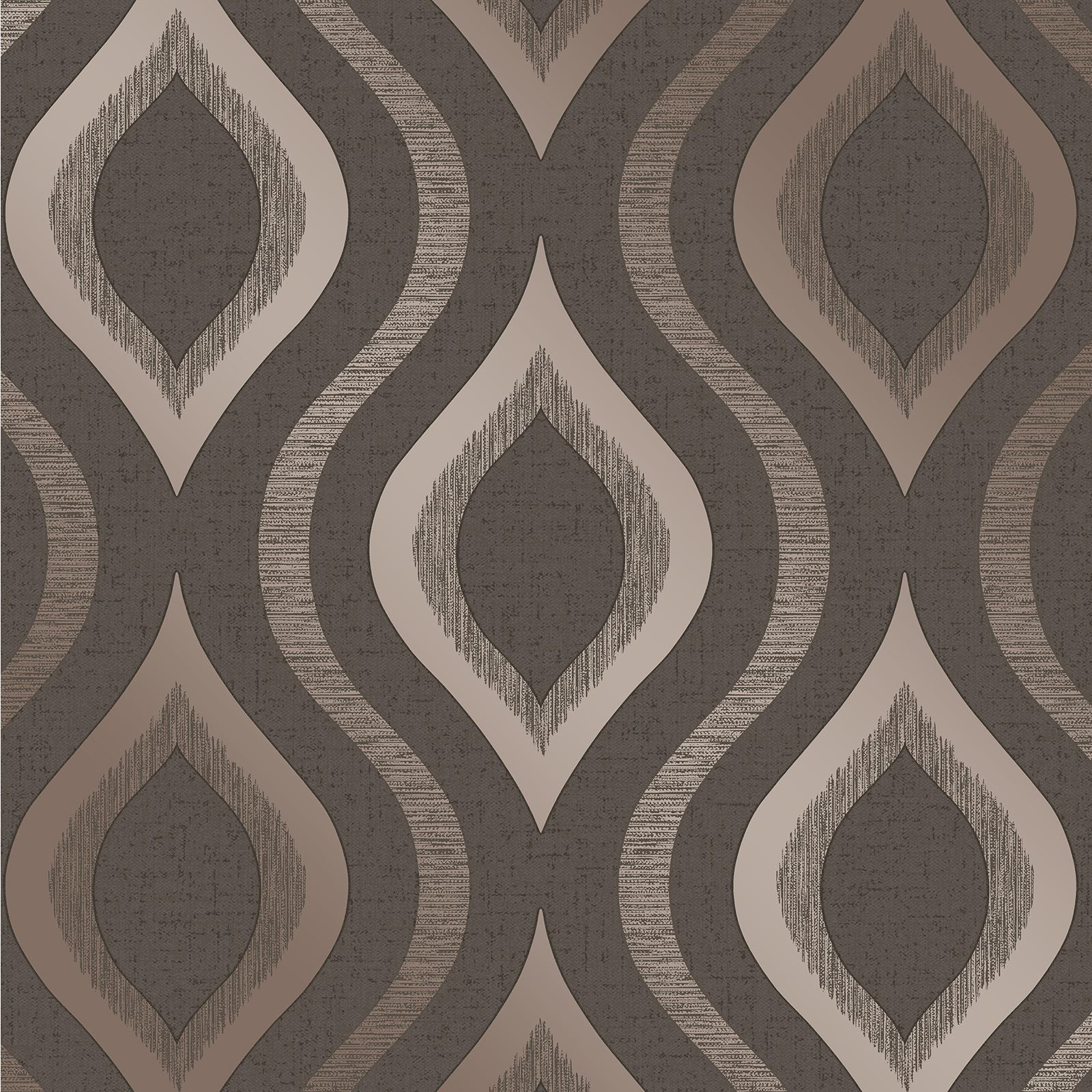 Fine Decor Quartz Geometric Wallpaper Rose Gold Silver Gold Pewter