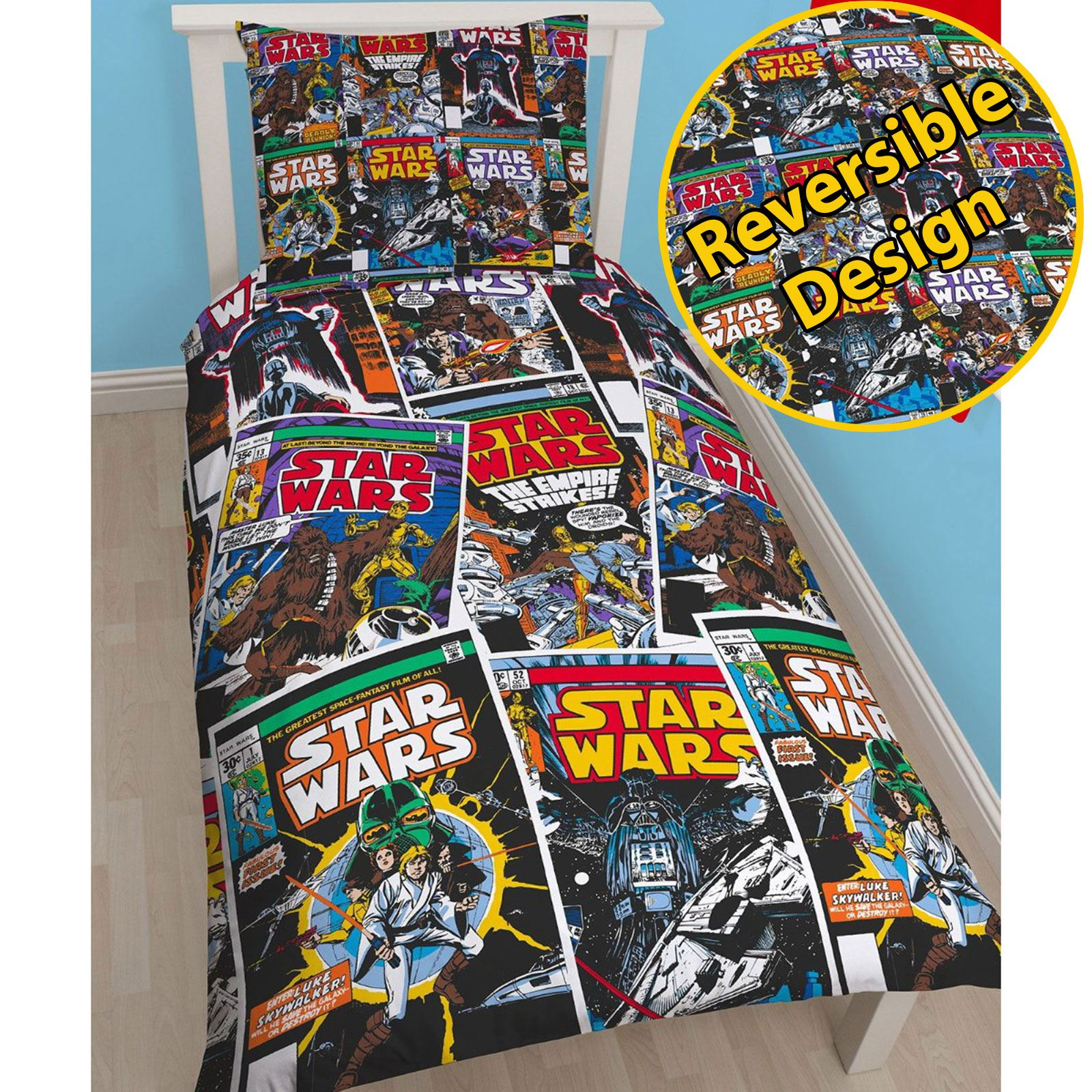 0739f163523 OFFICIAL STAR WARS LEGO DUVET COVER SETS BEDDING KIDS STORMTROOPERS DARTH  VADER