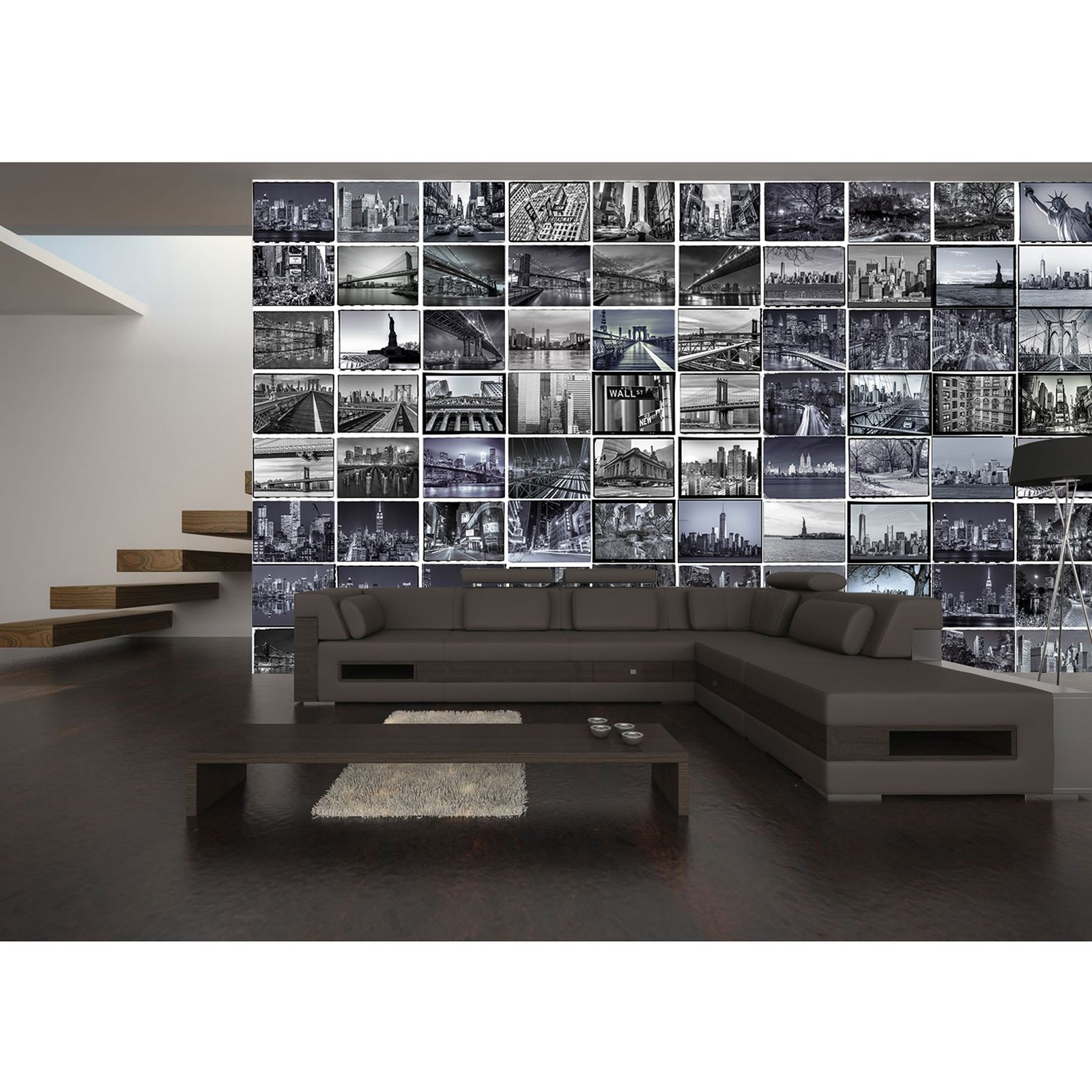 CREATIVE COLLAGE BIG APPLE NEW YORK CITY WALL MURAL   64 PIECE WALLPAPER NYC Part 73
