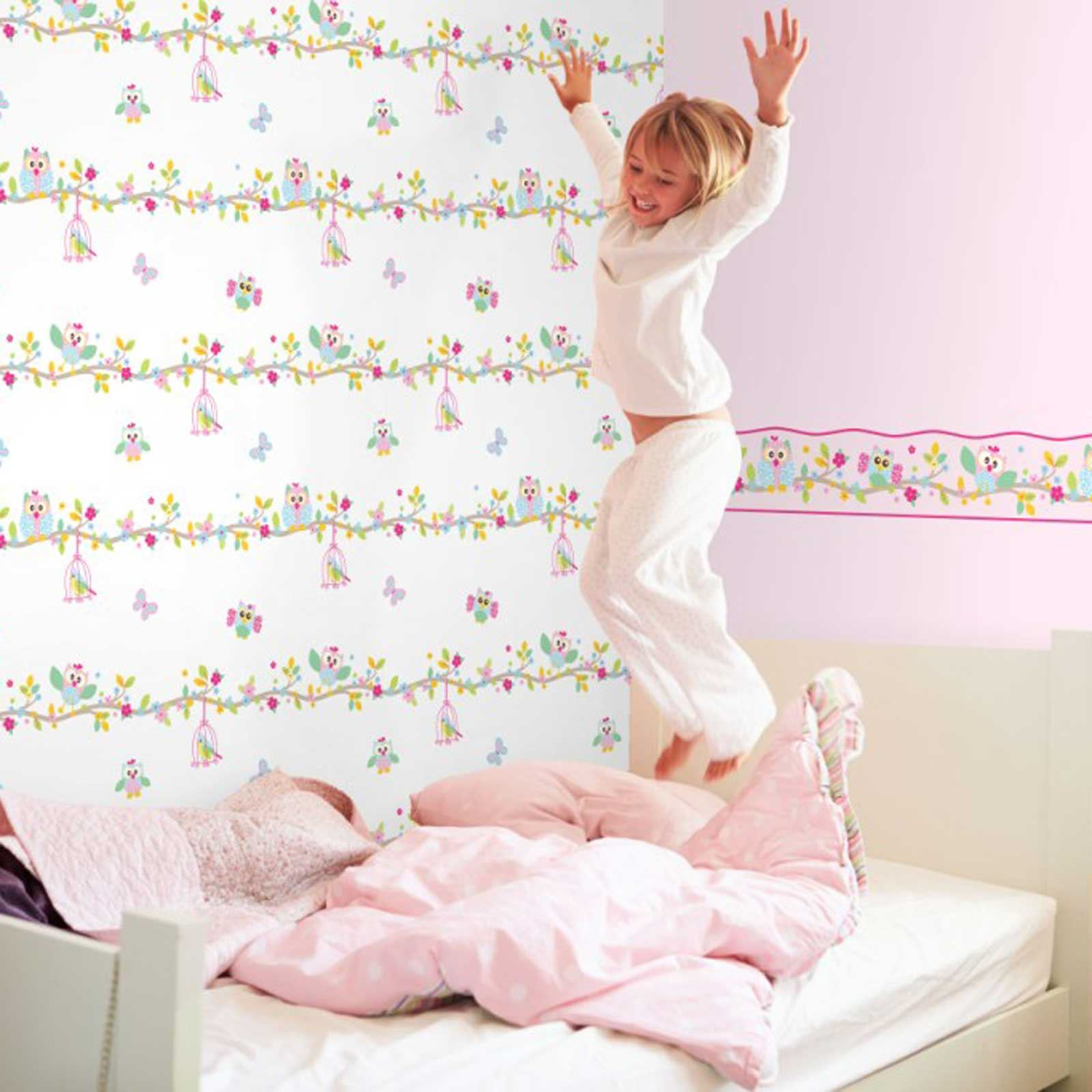 GIRLS CHIC WALLPAPER KIDS BEDROOM FEATURE WALL DECOR. GIRLS CHIC WALLPAPER KIDS BEDROOM FEATURE WALL DECOR VARIOUS