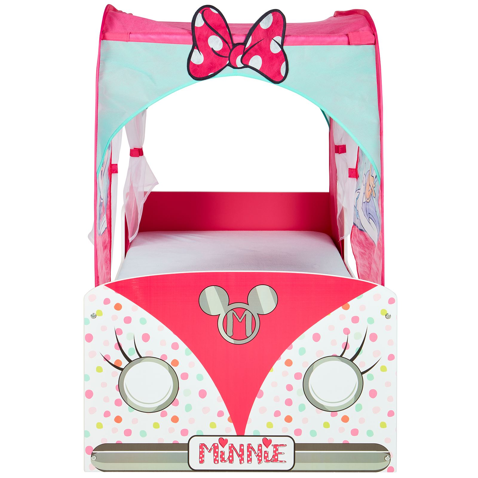 Minnie Mouse Campervan Toddler Bed With Canopy ...