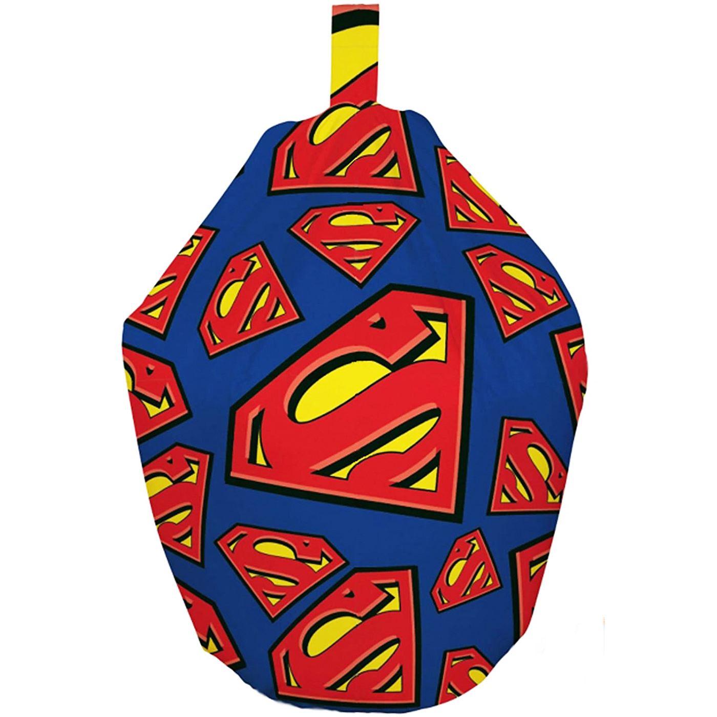 Kids Character Filled Bean Bags Seat Superman Frozen