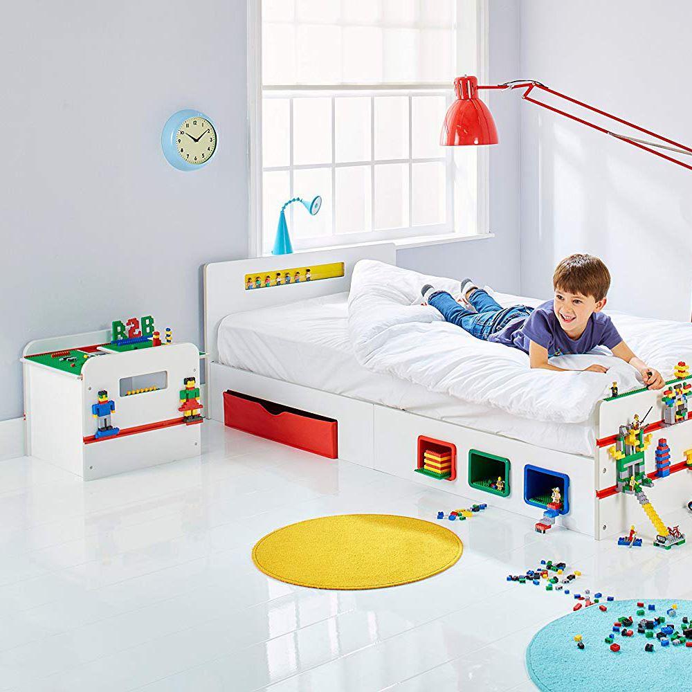 Etagere Avion Chambre Bebe détails sur room 2 build chambre enfants lego - simple lit avec  rangement,jouet box,Étagère