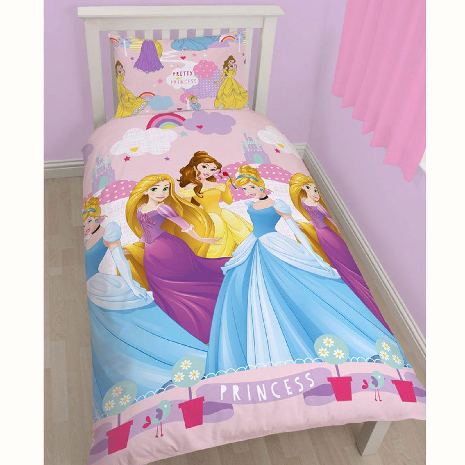 Disney Princess Duvet Cover Bedding Sets Single Double