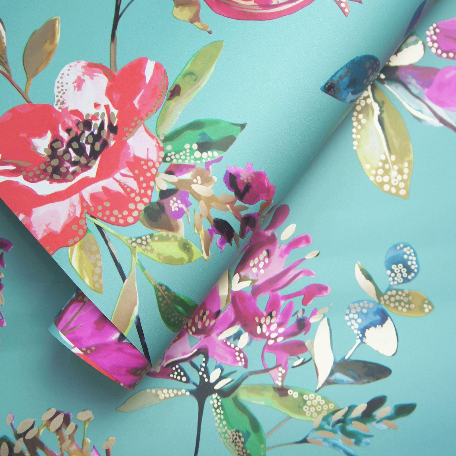 Pink Flowers Wallpaper: HOLDEN MELGRANO FLORAL WALLPAPER