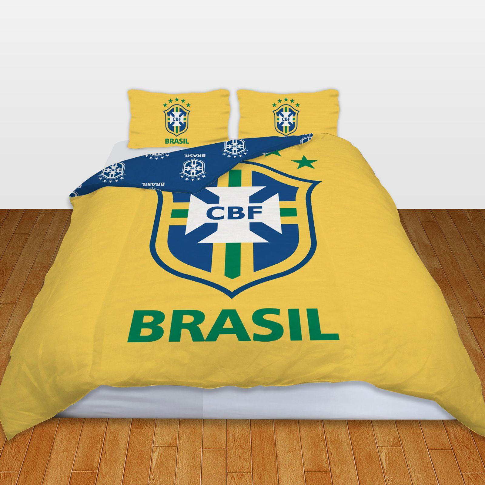 Brasil Football Team World Cup Double Duvet Cover Bedding