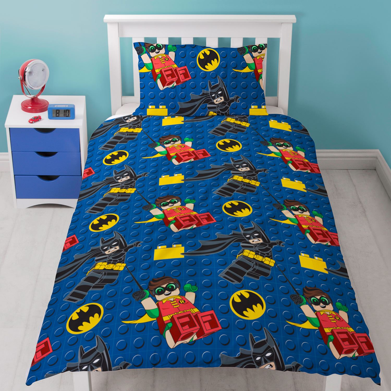 LEGO BATMAN HERO SINGLE DUVET COVER SET NEW