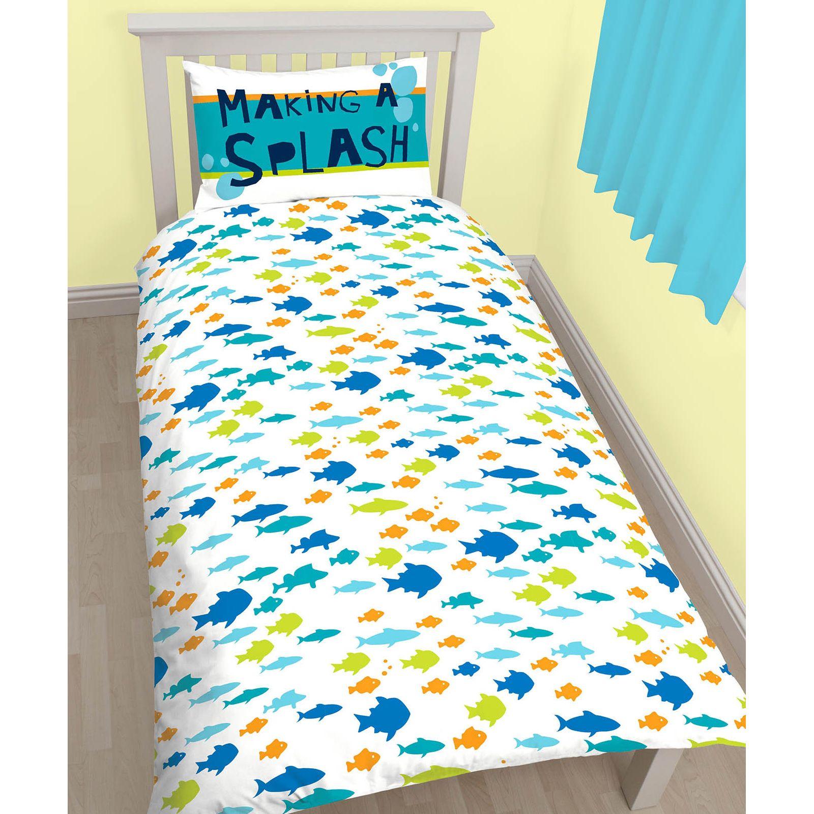 Trovando nemo dory set copripiumino singolo biancheria da letto bambini nuovo ebay - Biancheria da letto bambini ...