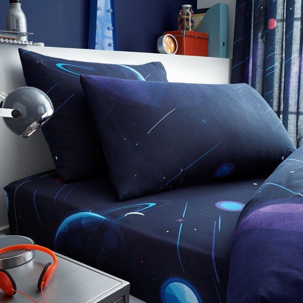 Indexbild 6 - SPACE CHIMP BEDDING - SINGLE DUVET, FITTED SHEET KIDS BEDROOM ASTRONAUT
