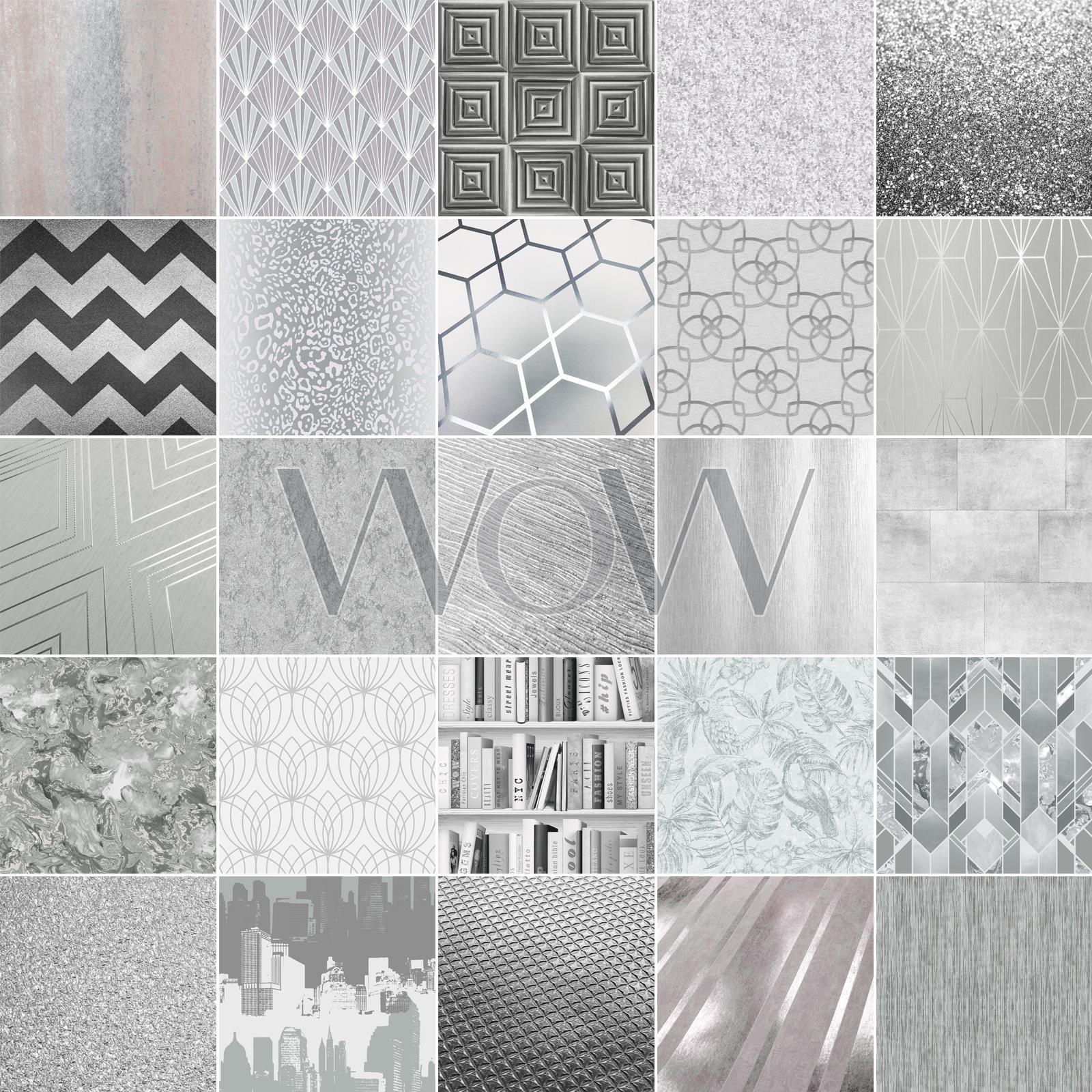 Various Colours Arthouse Sequin Sparkle Glitter Wallpaper Metallic High Shine