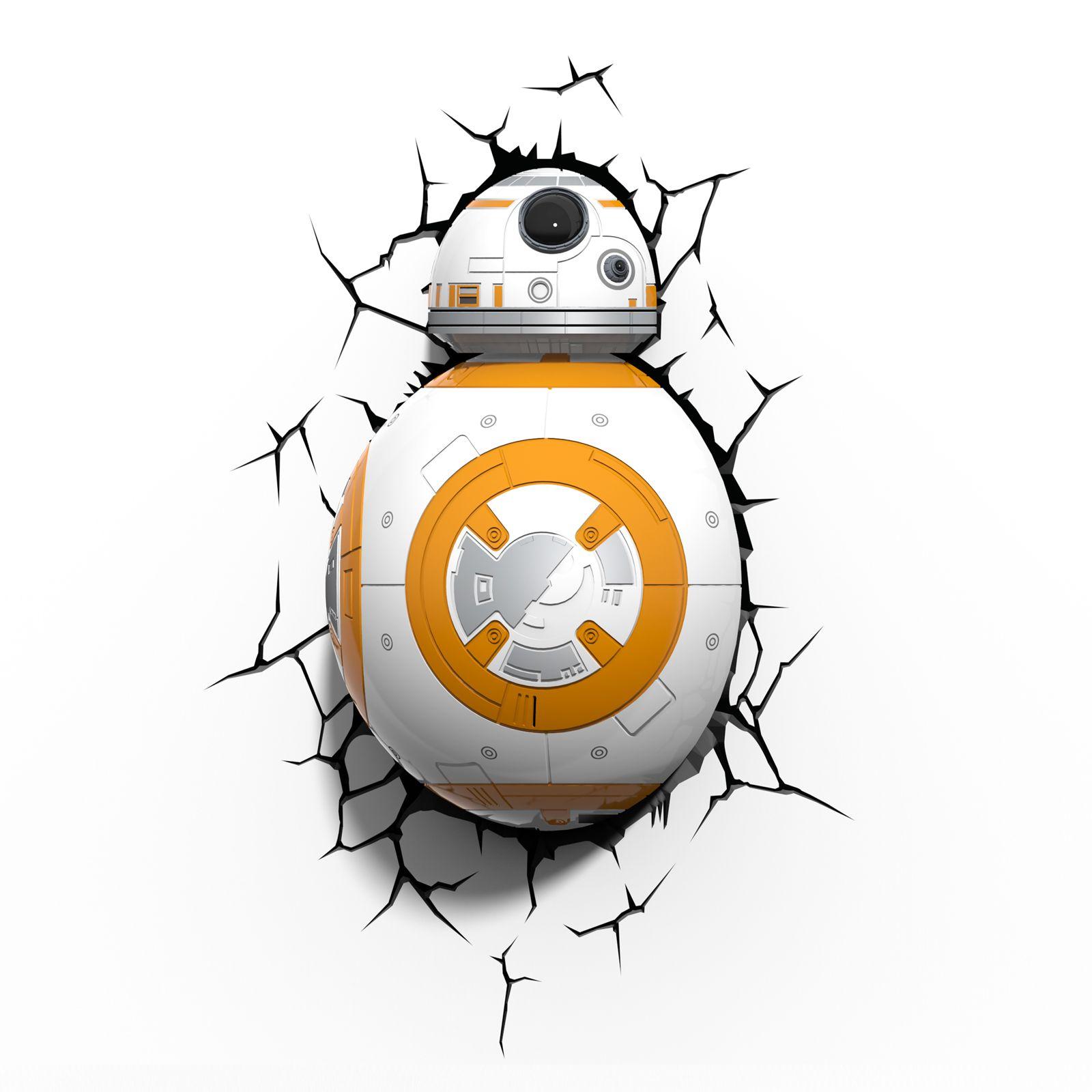 Star wars episode vii 3d wandlichter bb 8 stormtrooper r2 d2 licht saber ebay