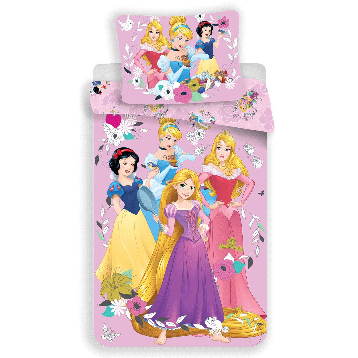 Disney Princess 100 Cotton Duvet Cover Set New Girls Bedding 8592753016763 Ebay
