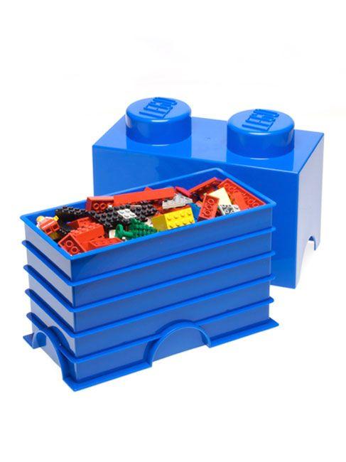 lego aufbewahrung ziegel 2 blau kinderspielzeug aufbewahrungsbeh lter neue ebay. Black Bedroom Furniture Sets. Home Design Ideas