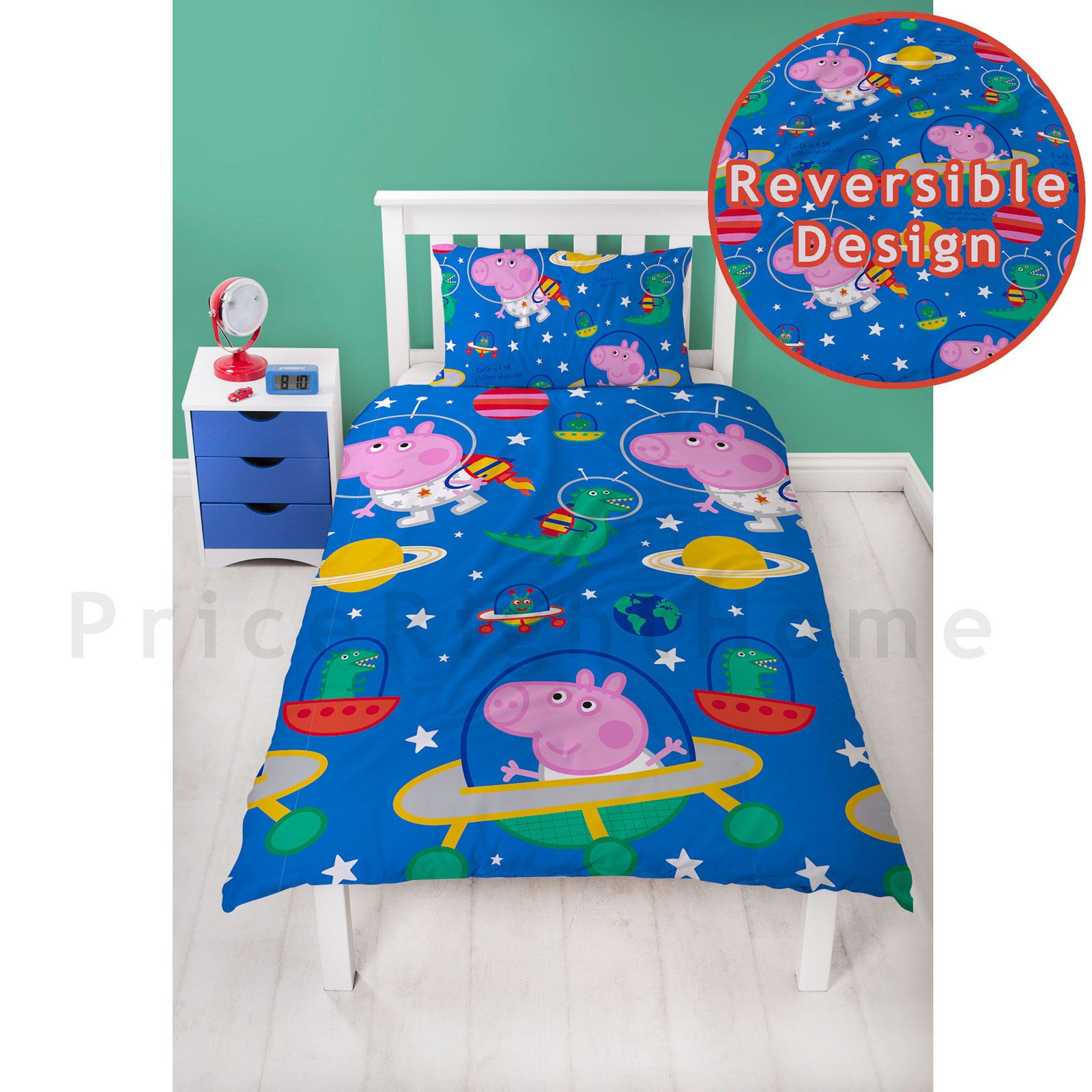 Peppa-PIG-amp-GEORGE-PIG-couette-couvre-tout-petit-Unique-amp-Double-Tailles