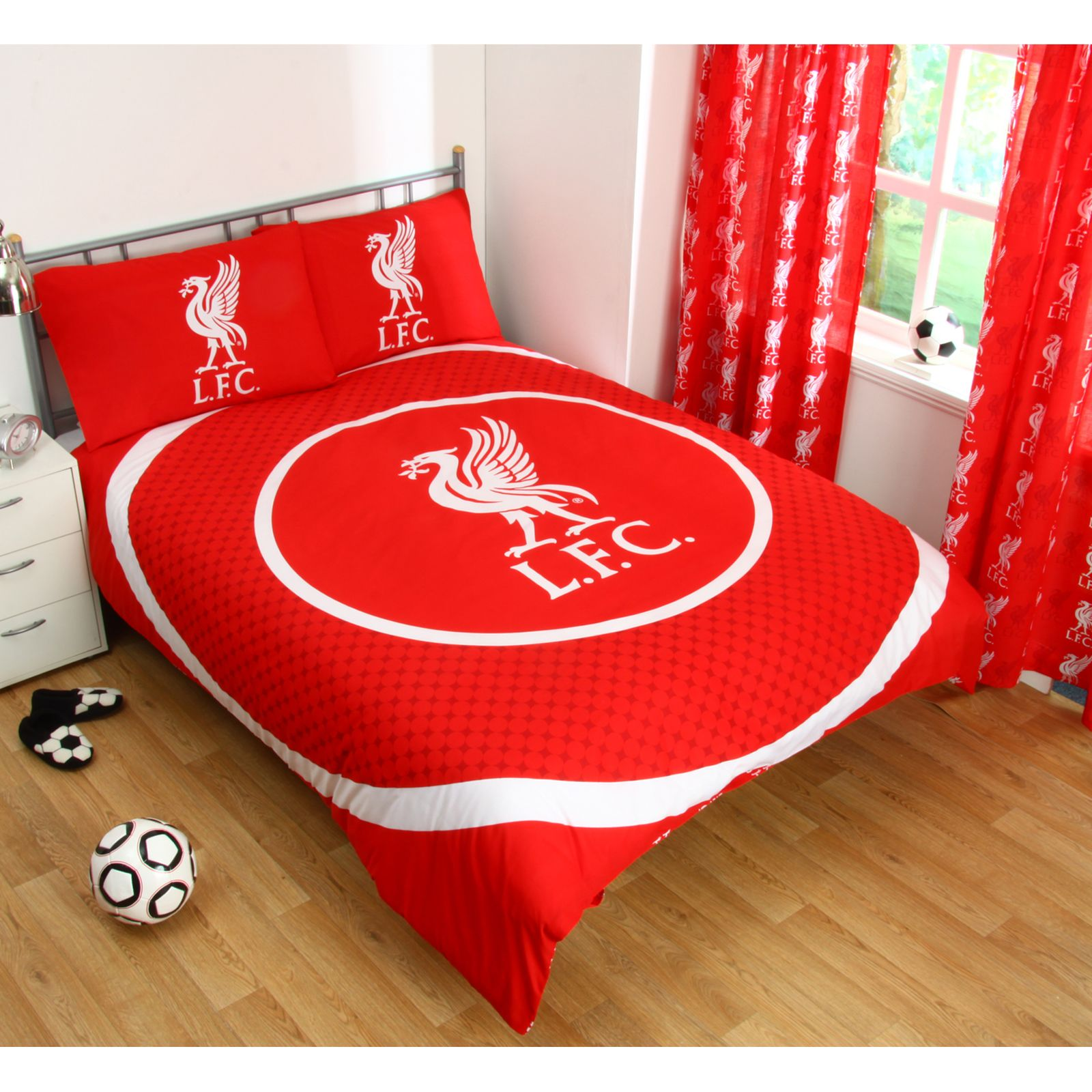 Liverpool Wallpaper For Bedroom Liverpool Fc Single And Double Duvet Cover Sets Bedroom Bedding