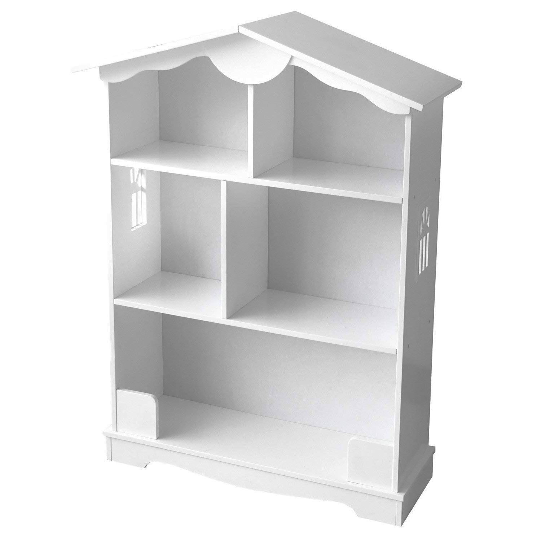 Jeux Rangement De La Maison détails sur en bois blanc bibliothèque poupées maison playrooms rangement  filles
