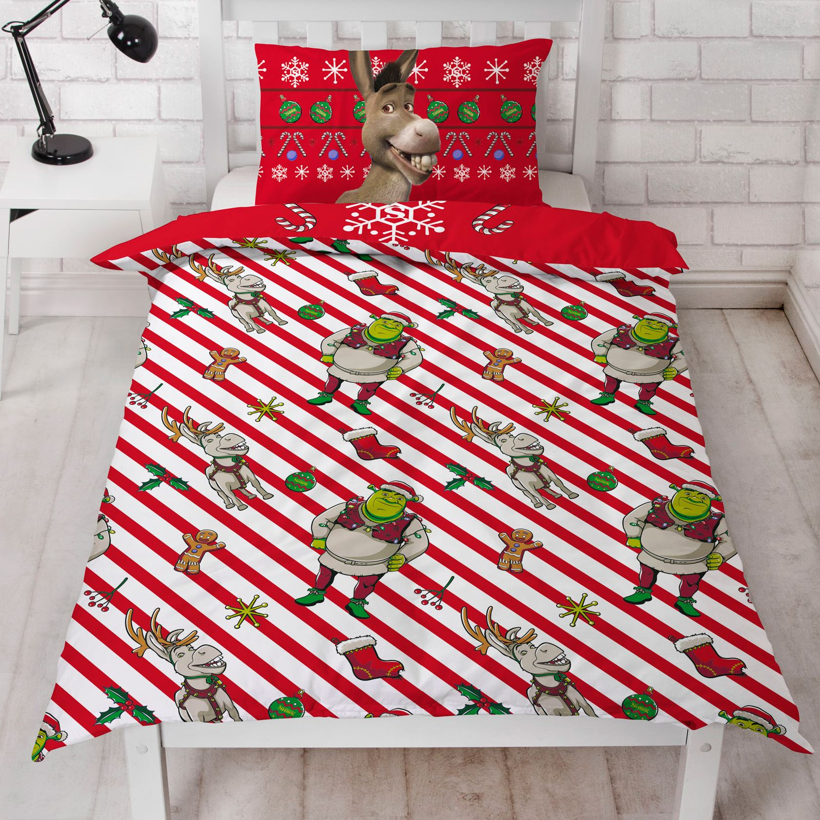 Indexbild 49 - Kinder Weihnachten Bettbezug Sets - Junior Einzel Doppel King - Elf Emoji Grinch