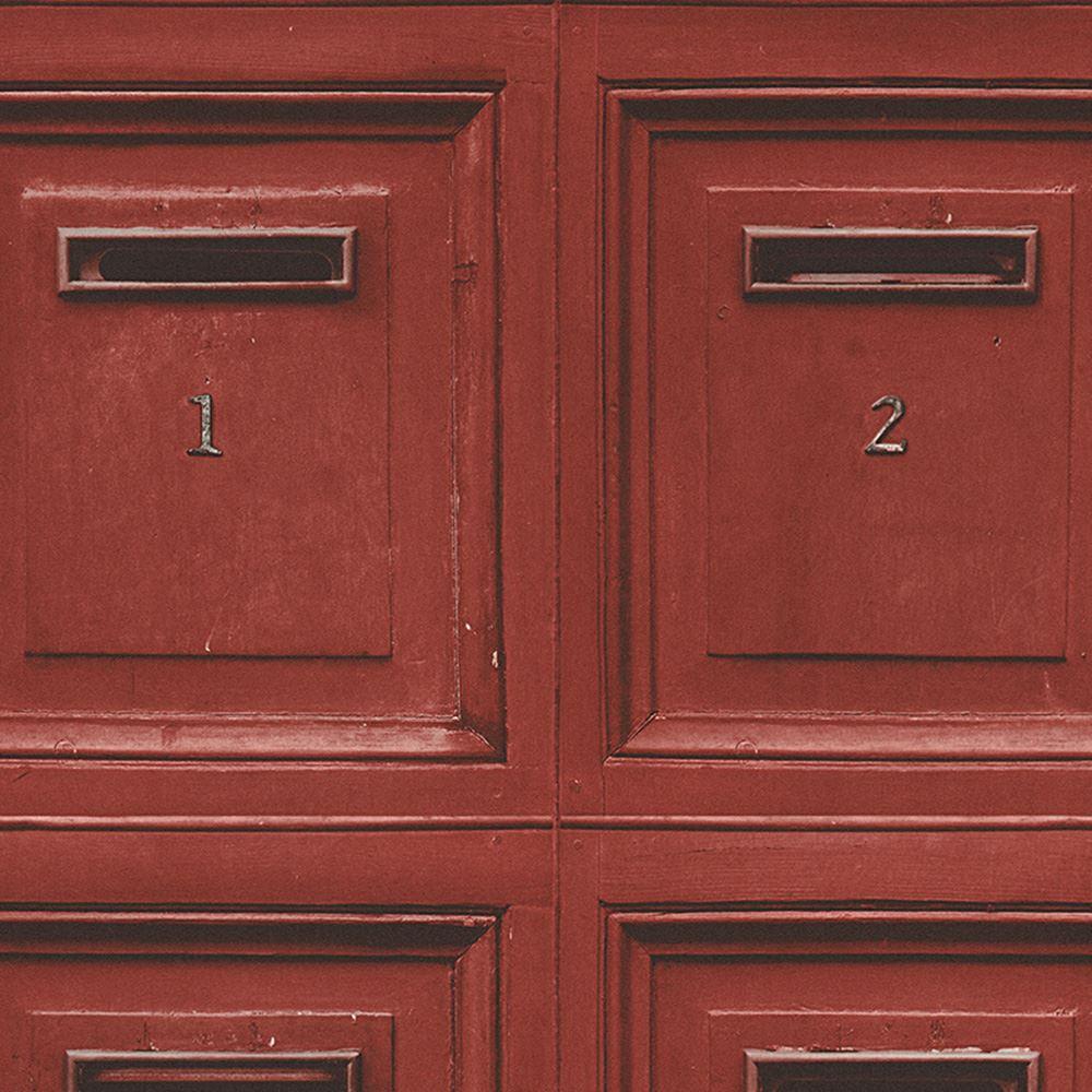 rustikale vintage post briefkasten tapete rot as kreation 307453 neu holz ebay. Black Bedroom Furniture Sets. Home Design Ideas