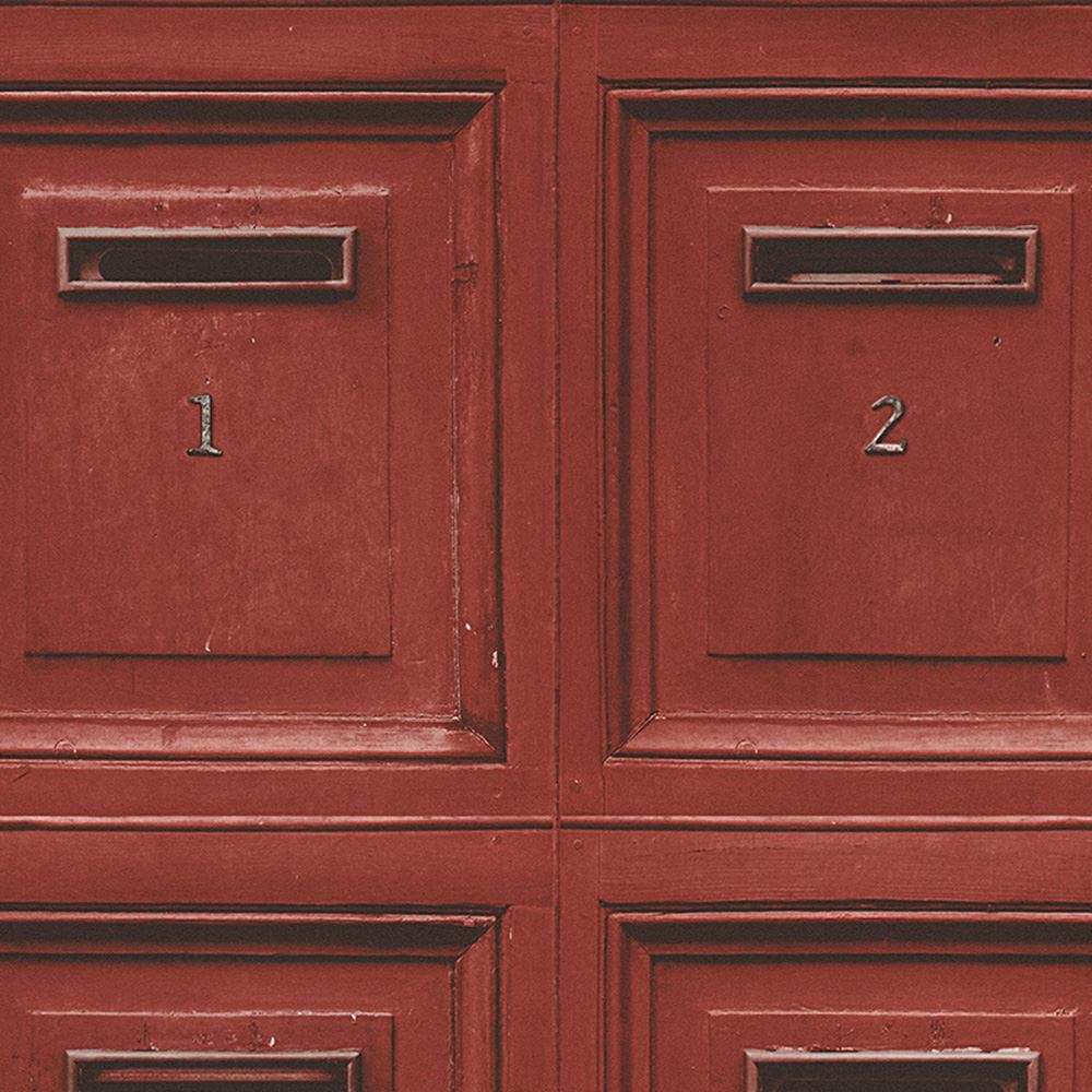 Rustikale vintage post briefkasten tapete rot as for Rustikale tapete