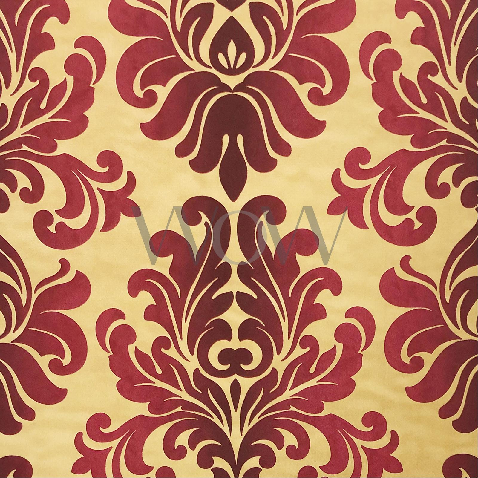Details About En Suite Baroque Damask Wallpaper Textured Rasch 546101 Red Gold