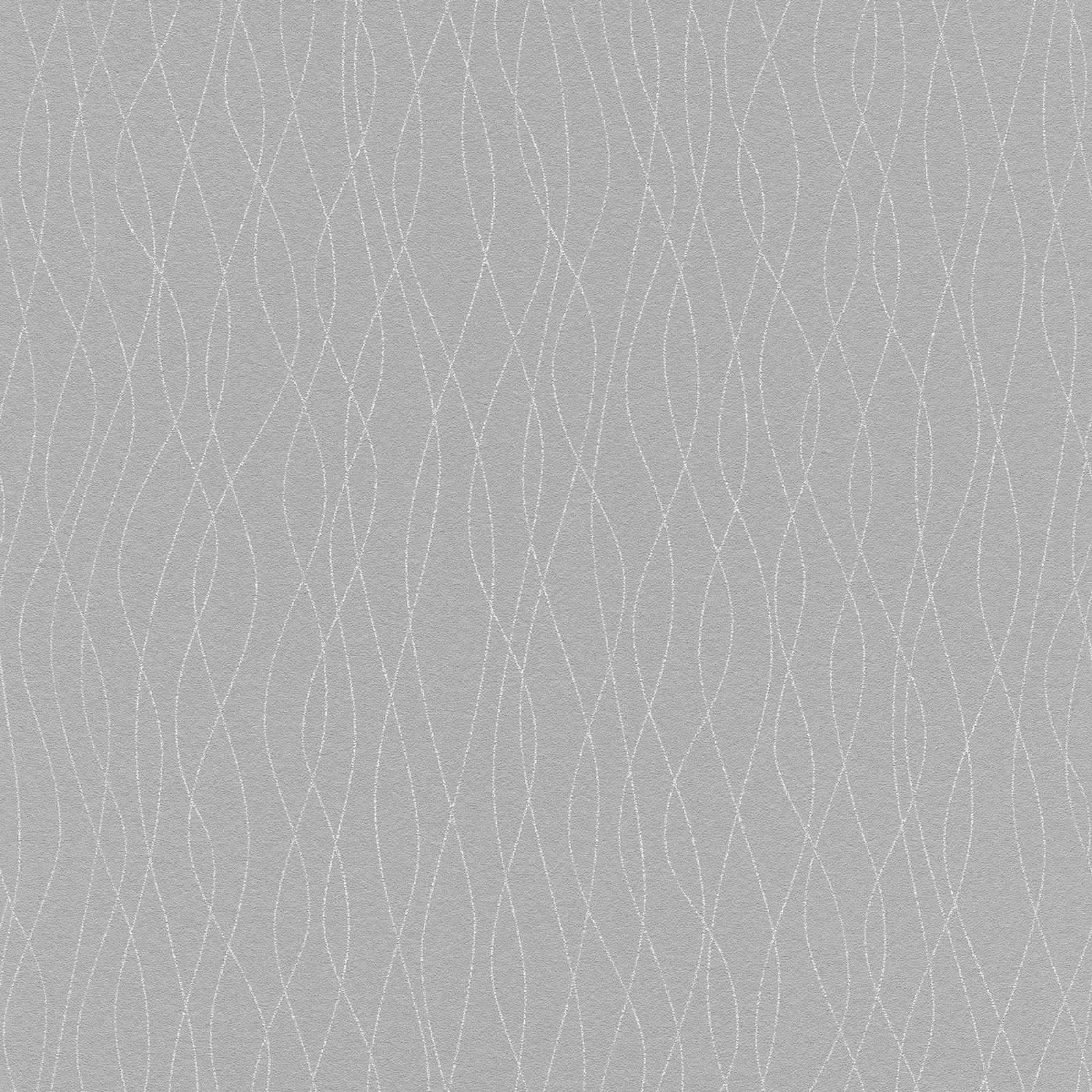 Rasch Scintillant Paillettes Fil Papier Peint Peint Papier Gris