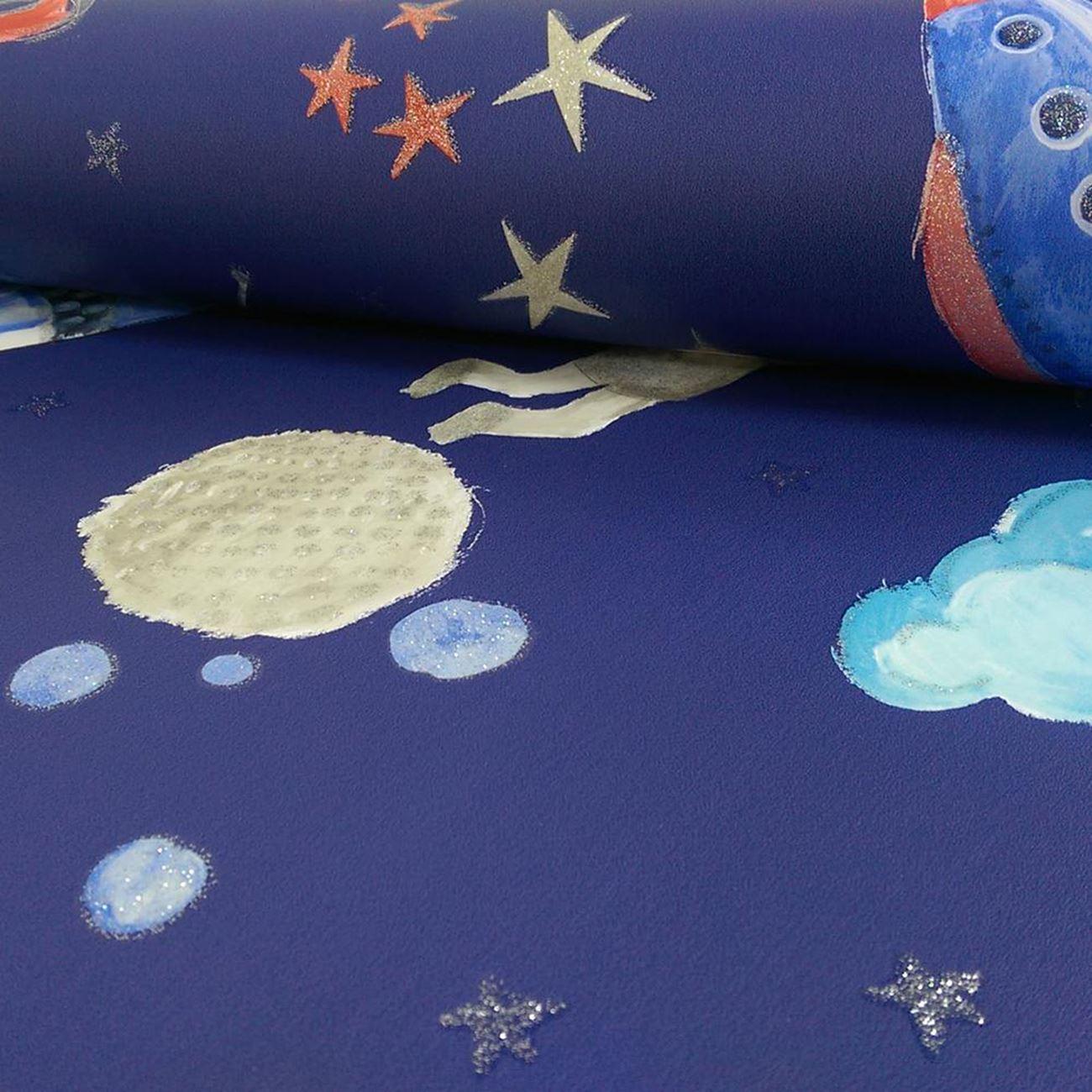 ARTHOUSE-GLITTER-DETAIL-KIDS-WALLPAPER-BEDROOM-UNICORN-MERMAID-SPACE thumbnail 74
