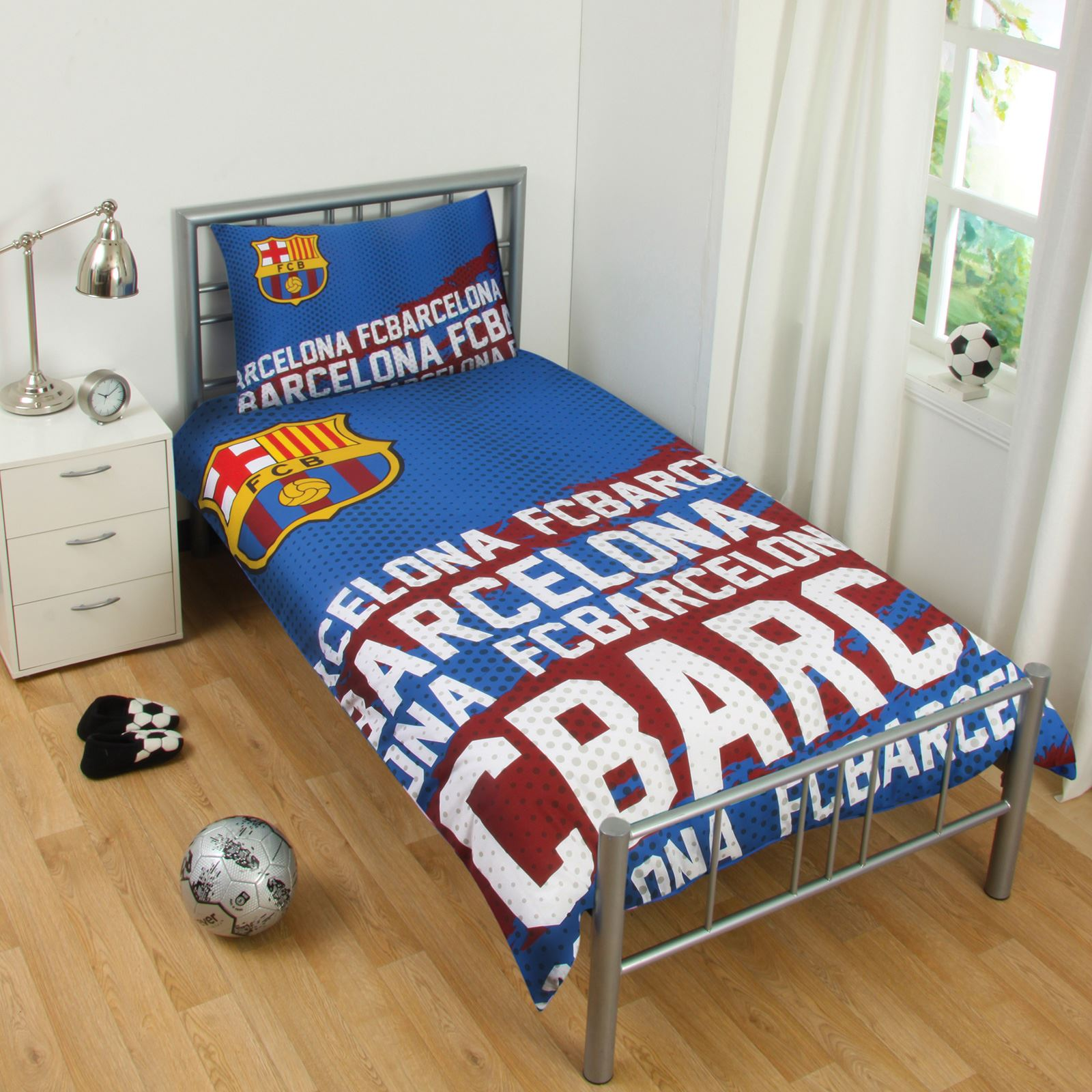 OFFICIAL FC BARCELONA DUVET COVER SETS BEDDING BEDROOM FOOTBALL ...