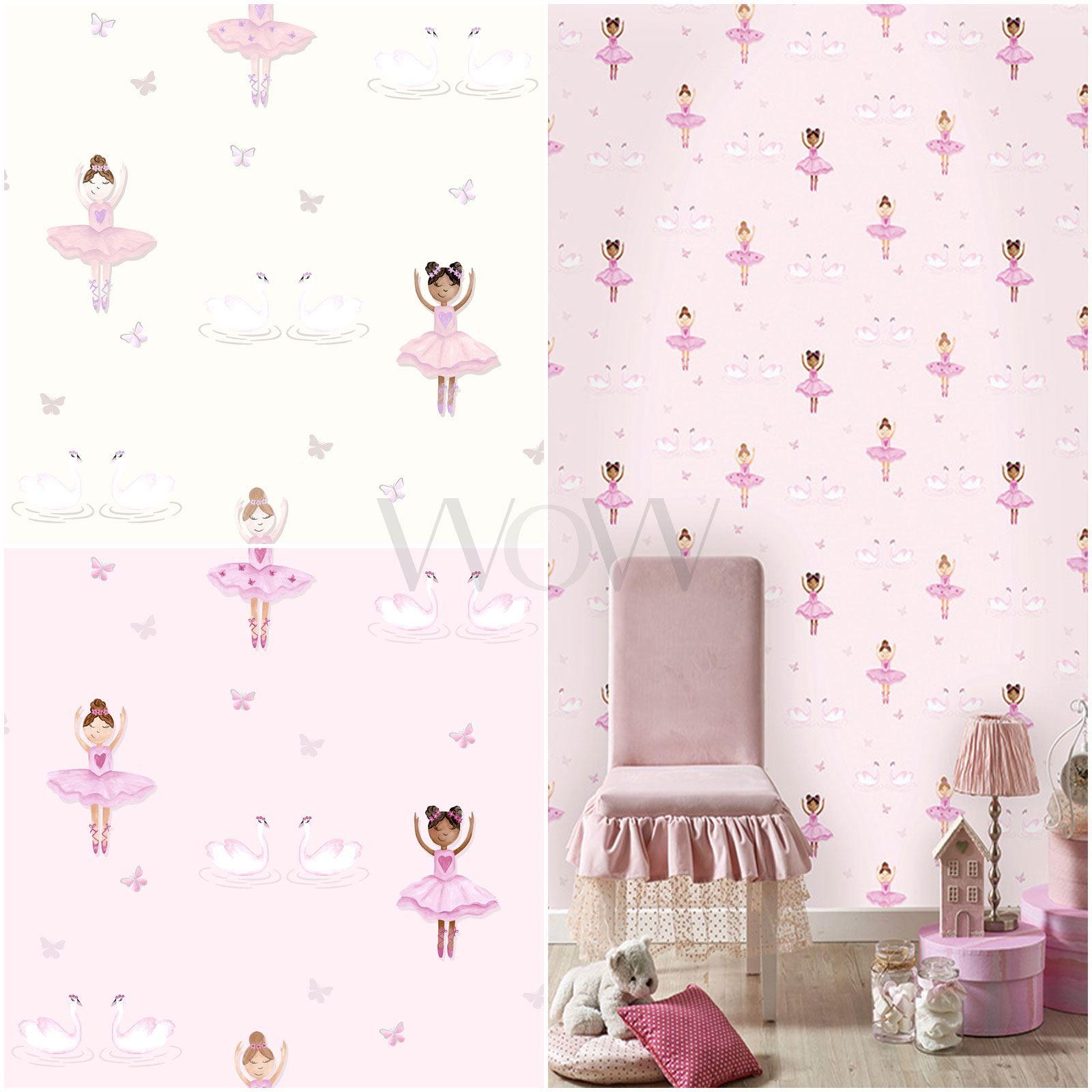 holden ballerina dancer glitter wallpaper kids girls