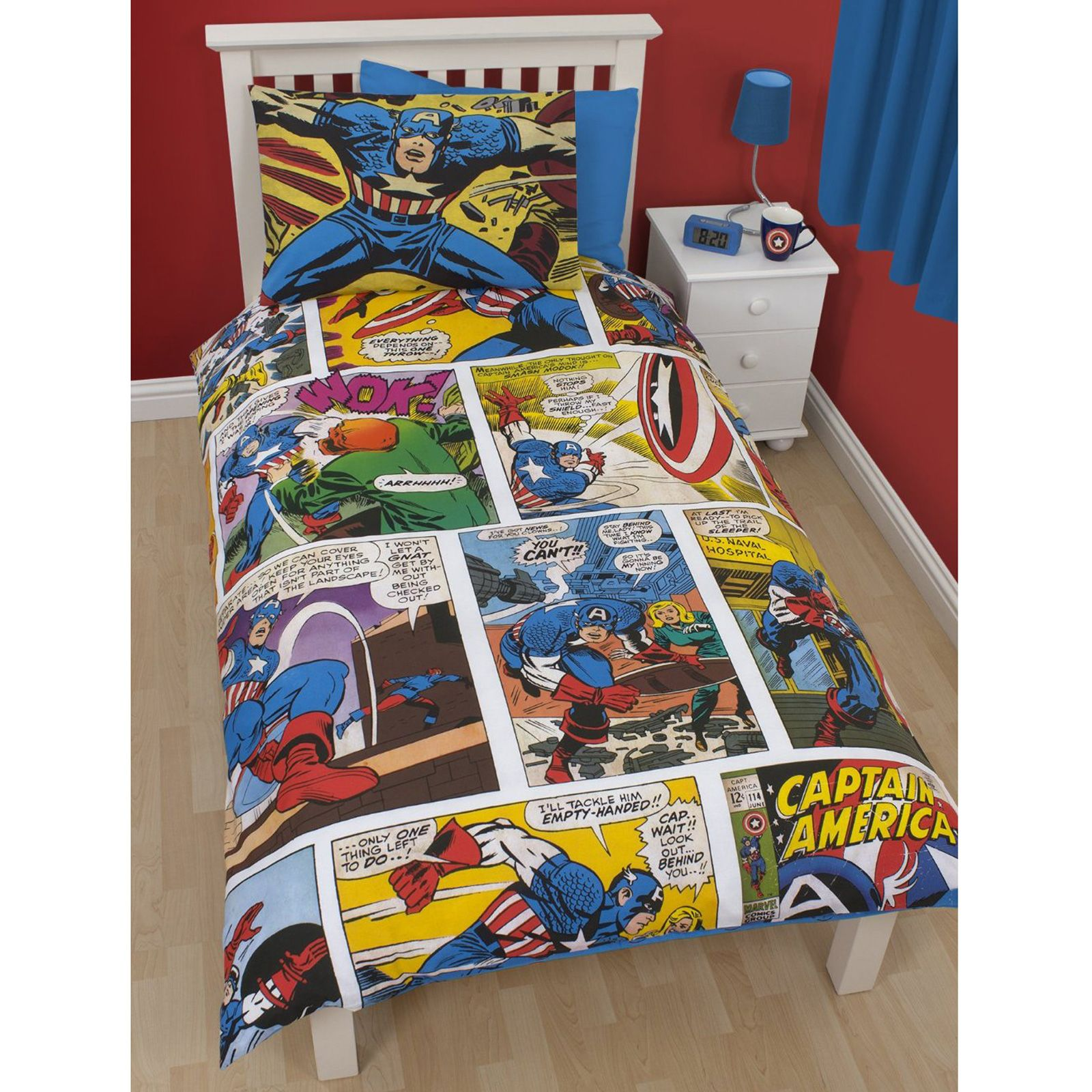 Marvel Comic Bedroom Official Avengers Marvel Comics Bedding Bedroom Accessories