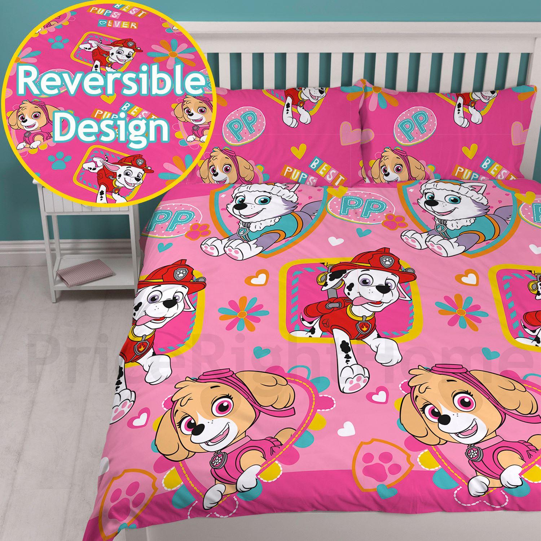Infantil-Disney-amp-Personaje-Edredon-Doble-Juego-De-MARVEL-Paw-Patrol-Emoji-amp-Mas