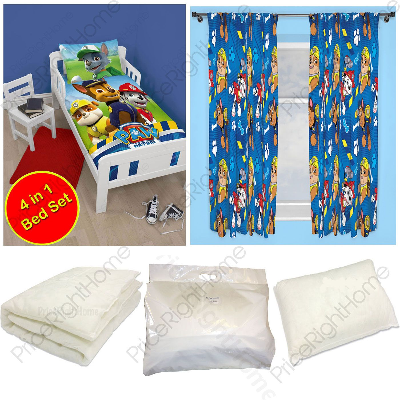 paw patrol junior schlafzimmer reihe bettbezug vorh nge erh ltlich kinder neu ebay. Black Bedroom Furniture Sets. Home Design Ideas