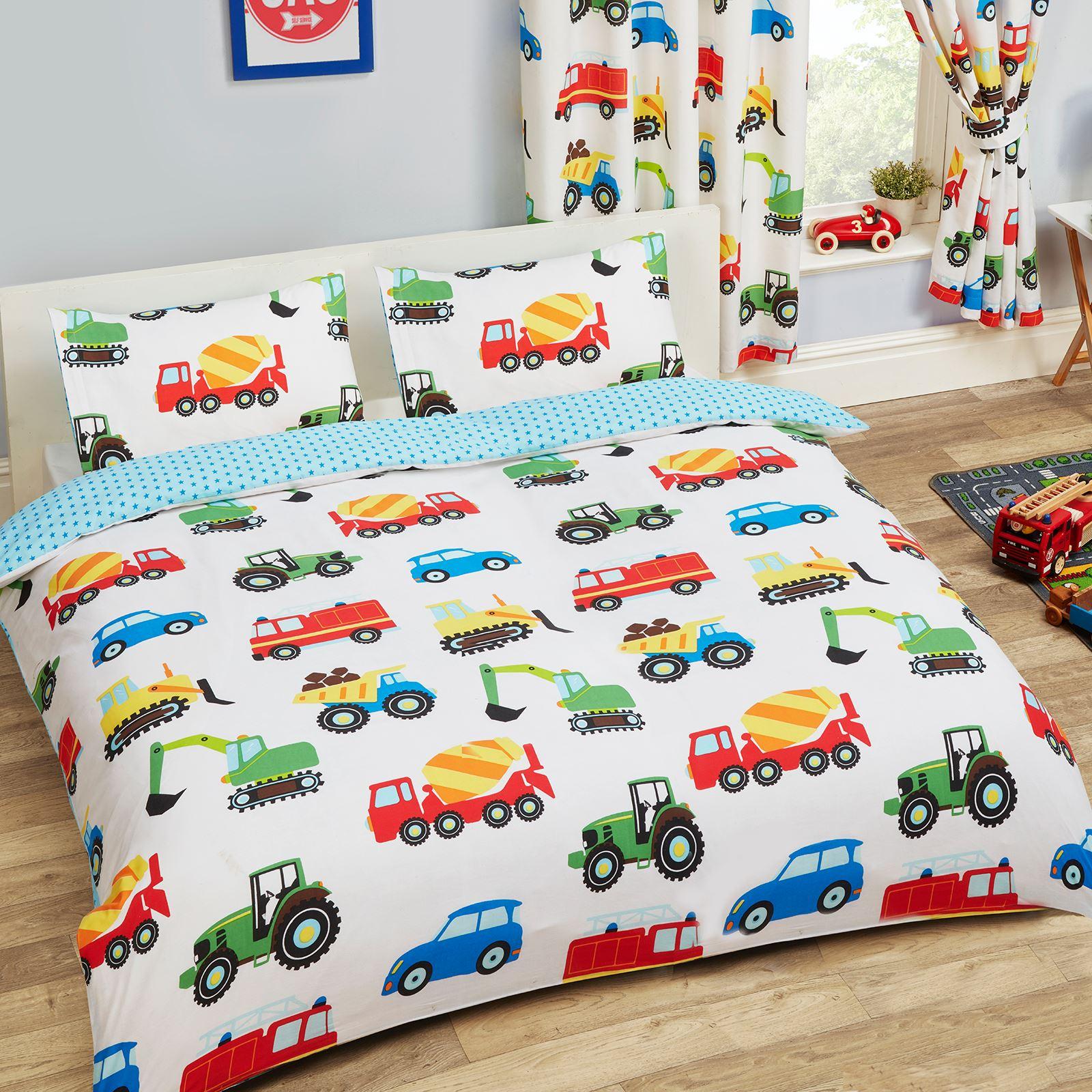 enfants housse de couette double ensembles dinosaures arm e oiseaux licorne ebay. Black Bedroom Furniture Sets. Home Design Ideas