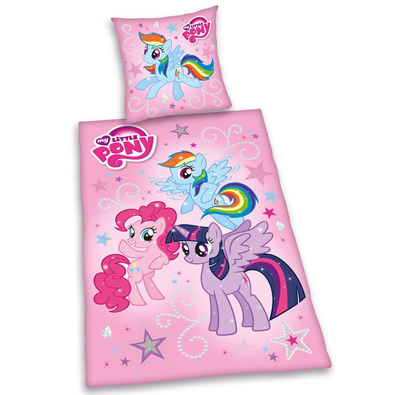 MY LITTLE PONY SINGLE DUVET COVER SETS GIRLS BEDROOM BEDDING ...