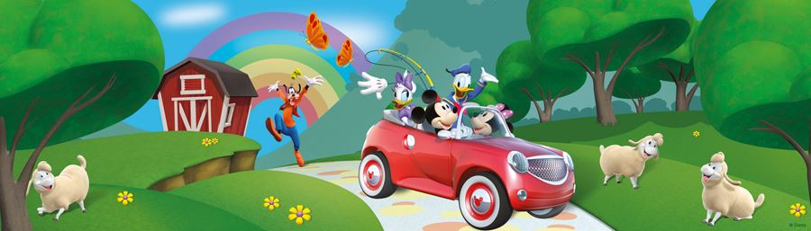 DISNEY MICKEY & MINNIE MOUSE WALLPAPERS AND BORDERS KIDS ...