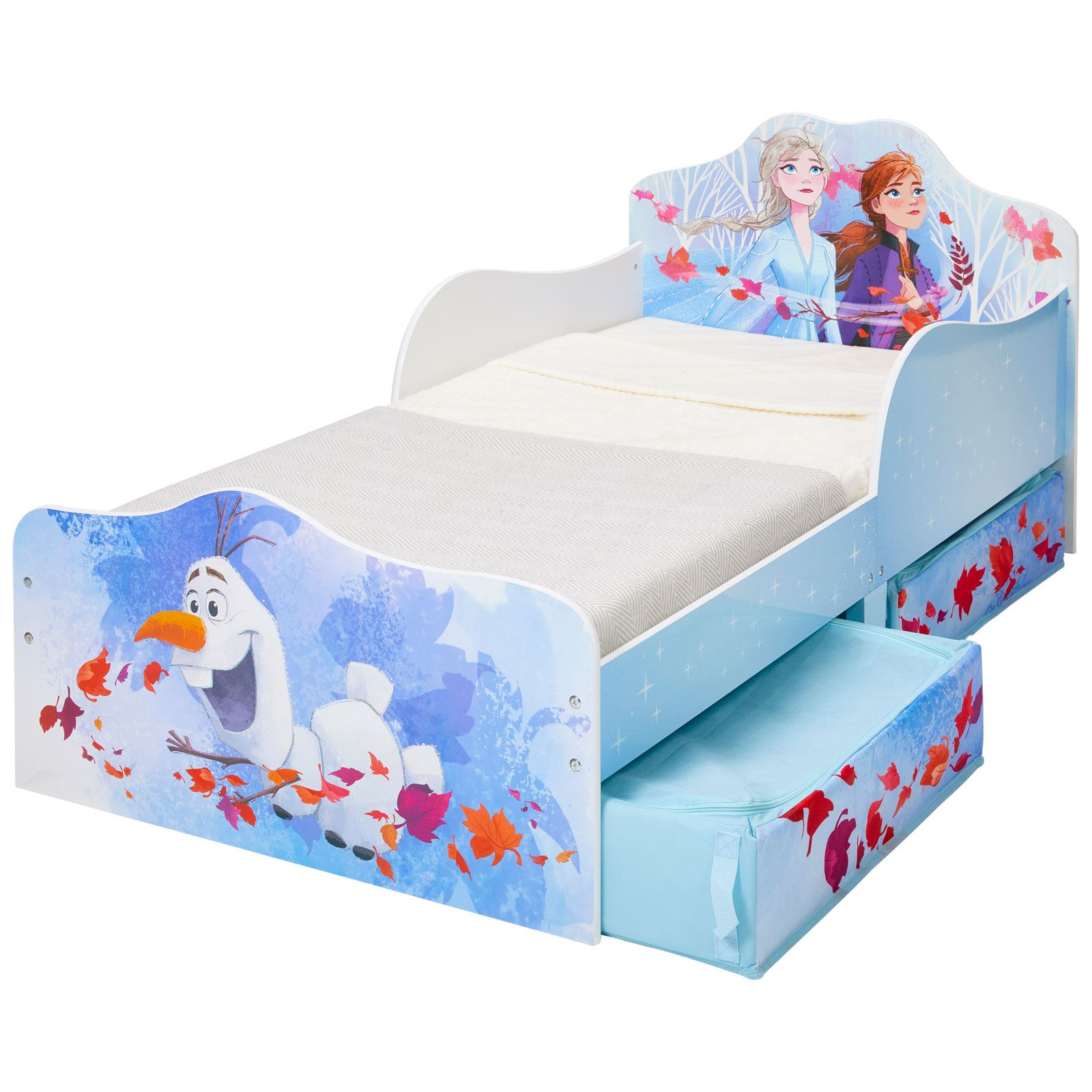 Toy Story 4 Toddler Bed with Storage Plus Deluxe Foam Mattress