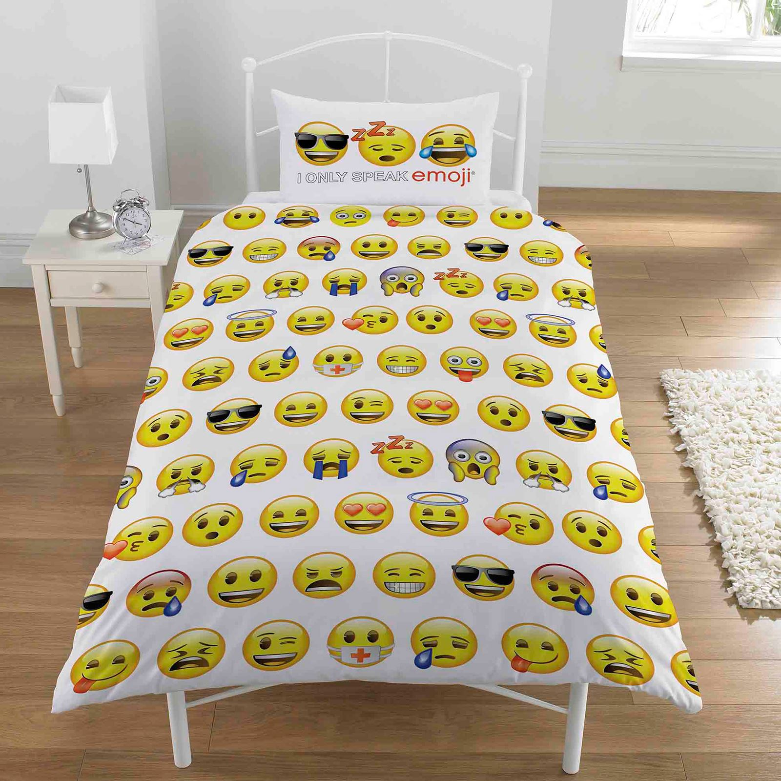 Emoji Duvet Cover Sets Single Double Funny Smiley Christmas