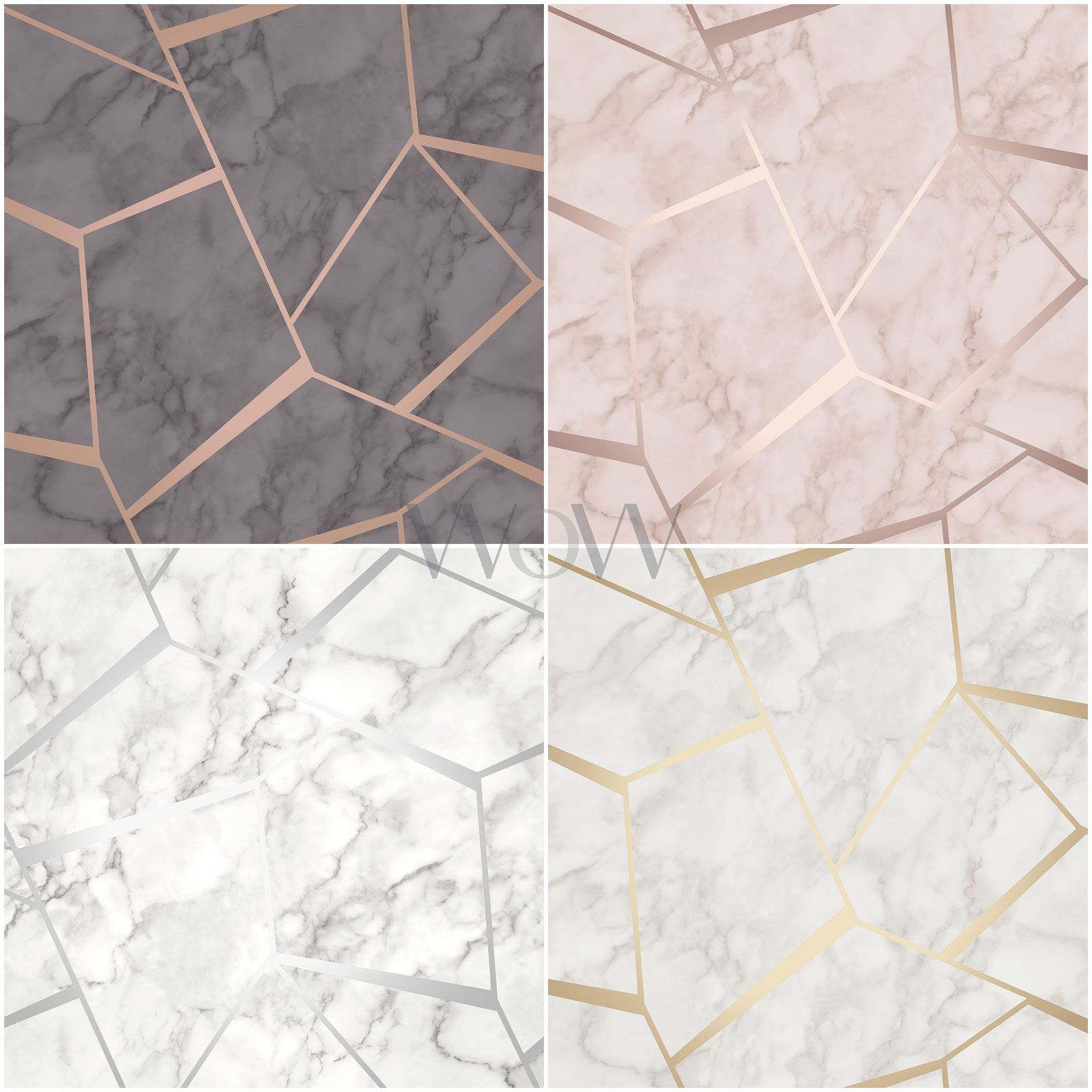 Fine Decor Fractal Marble Geometric Metallic Wallpaper Ebay